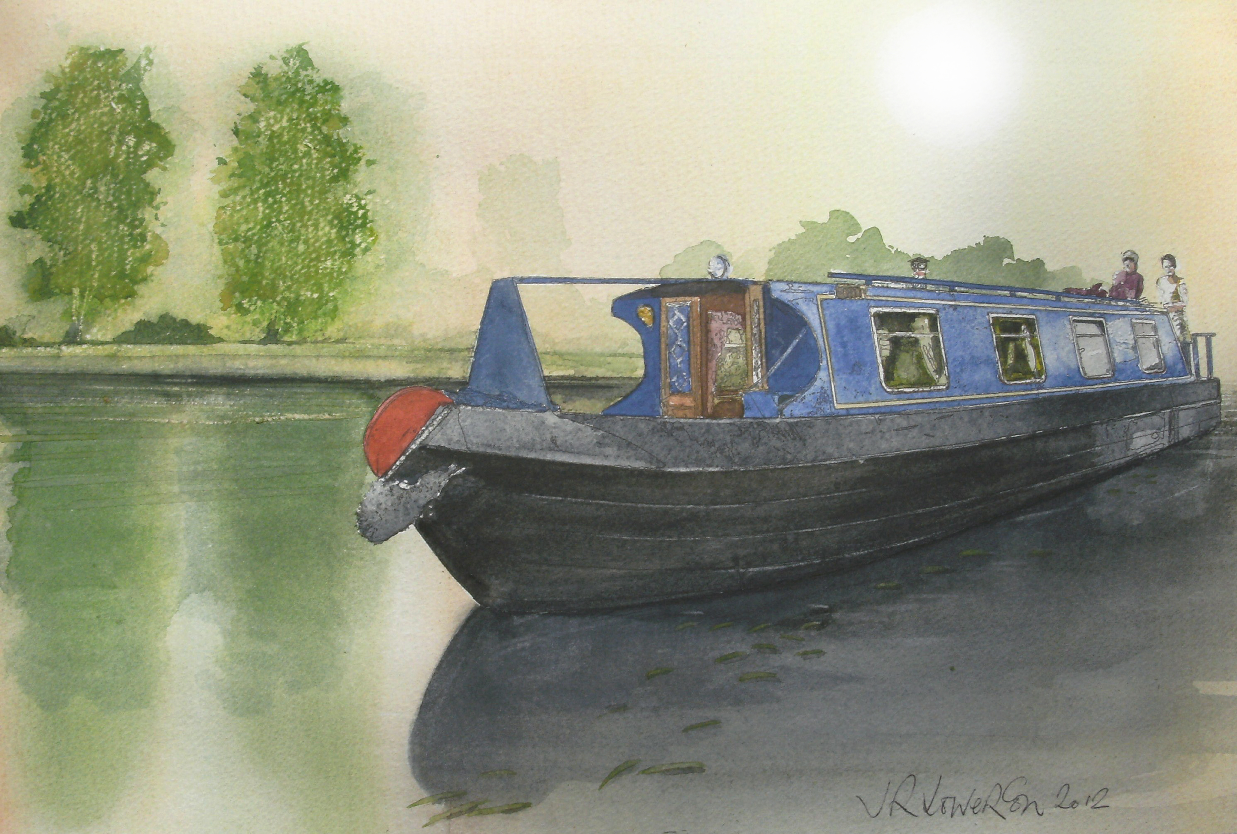 ...the night was young and the moon was gold, Art, Nottinghamshire NHS Trust, Mooring, Moorings, HQ Photo