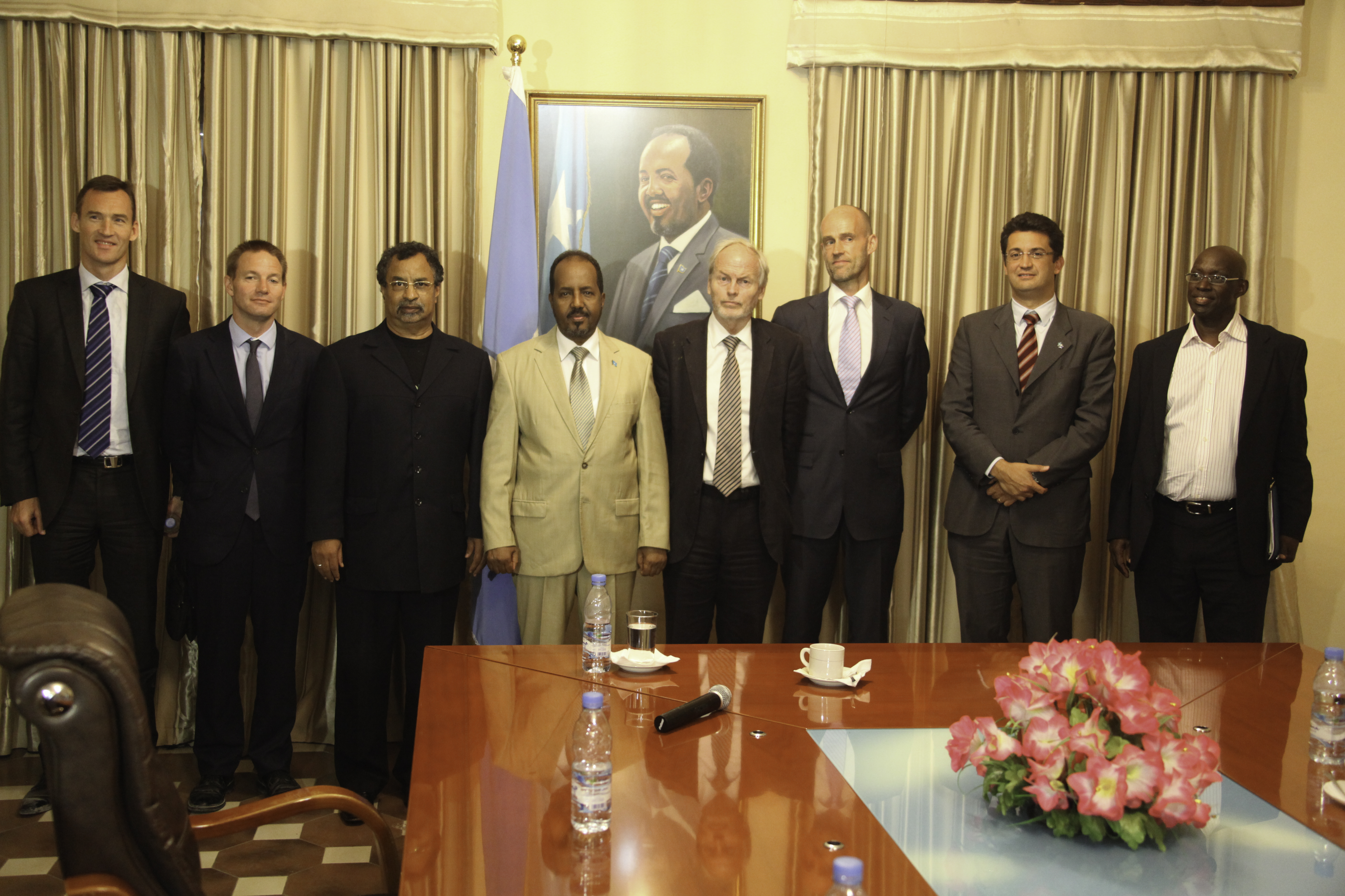 09 The African Union Special Representative for Somalia_, Groupshot, Indoor, People, HQ Photo