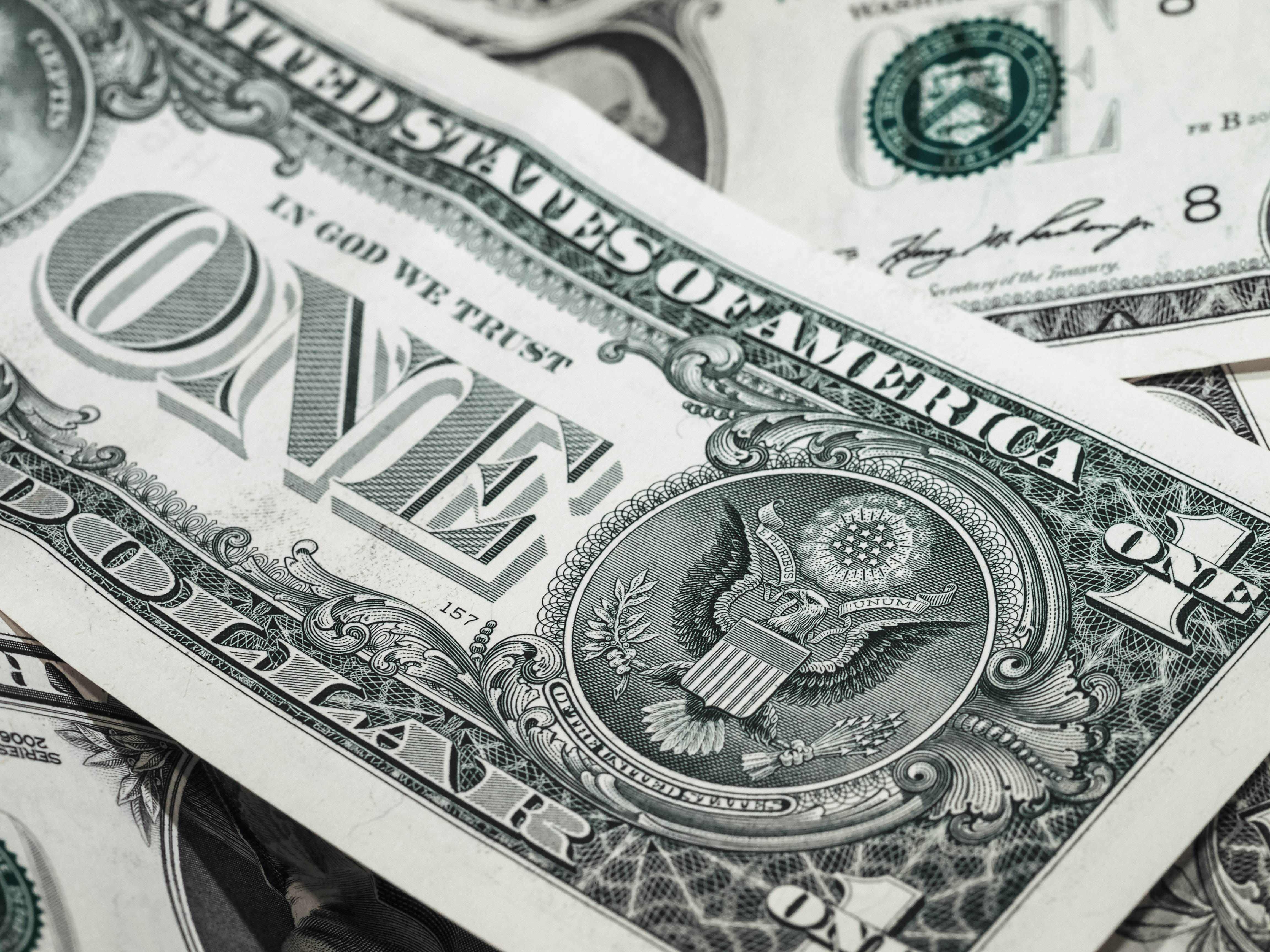 1 U.s. Dollar Bill, Bank note, Loan, Us-dollar, Savings, HQ Photo