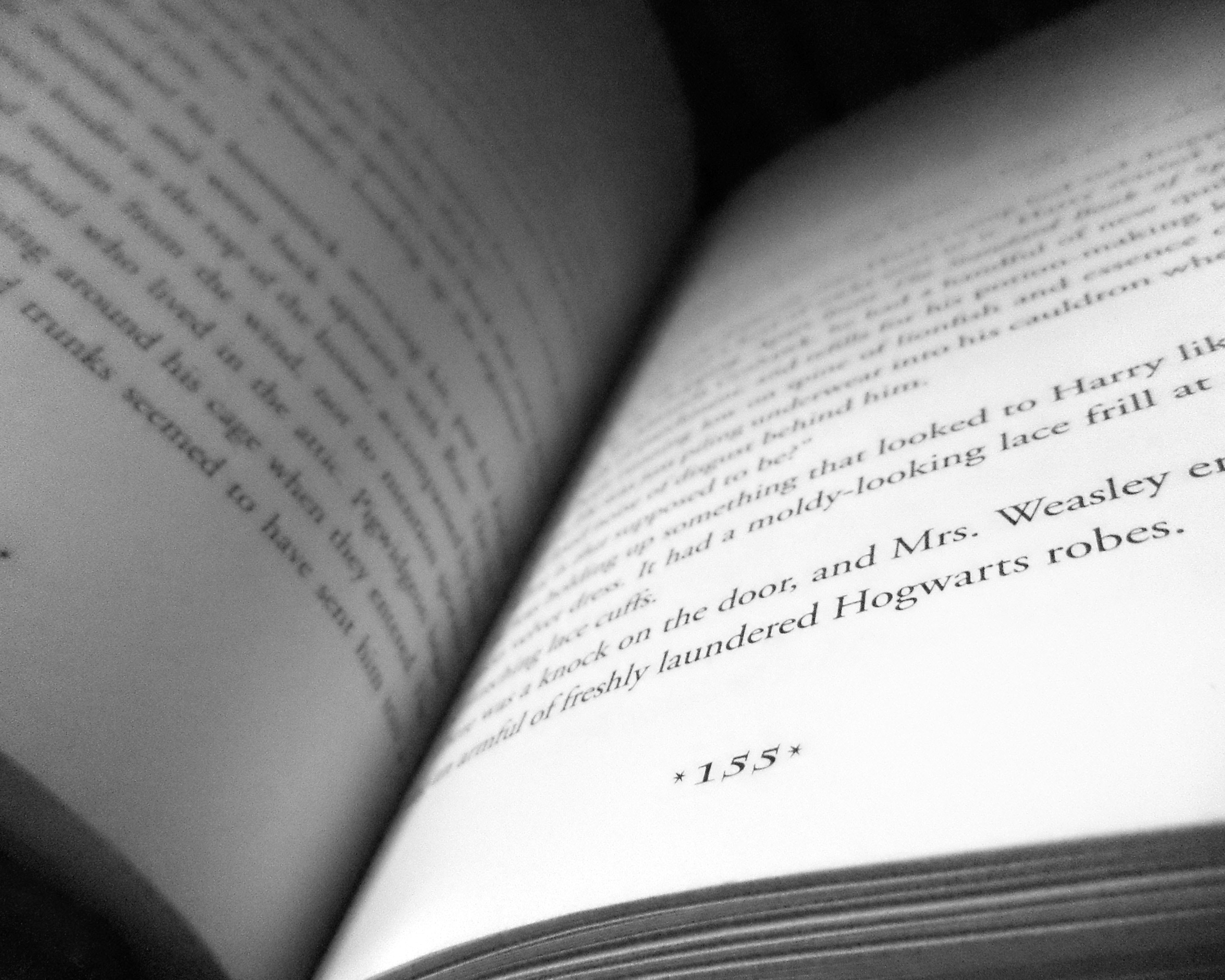 155 Book Page, Black and white, Book, Book pages, Close -up, HQ Photo