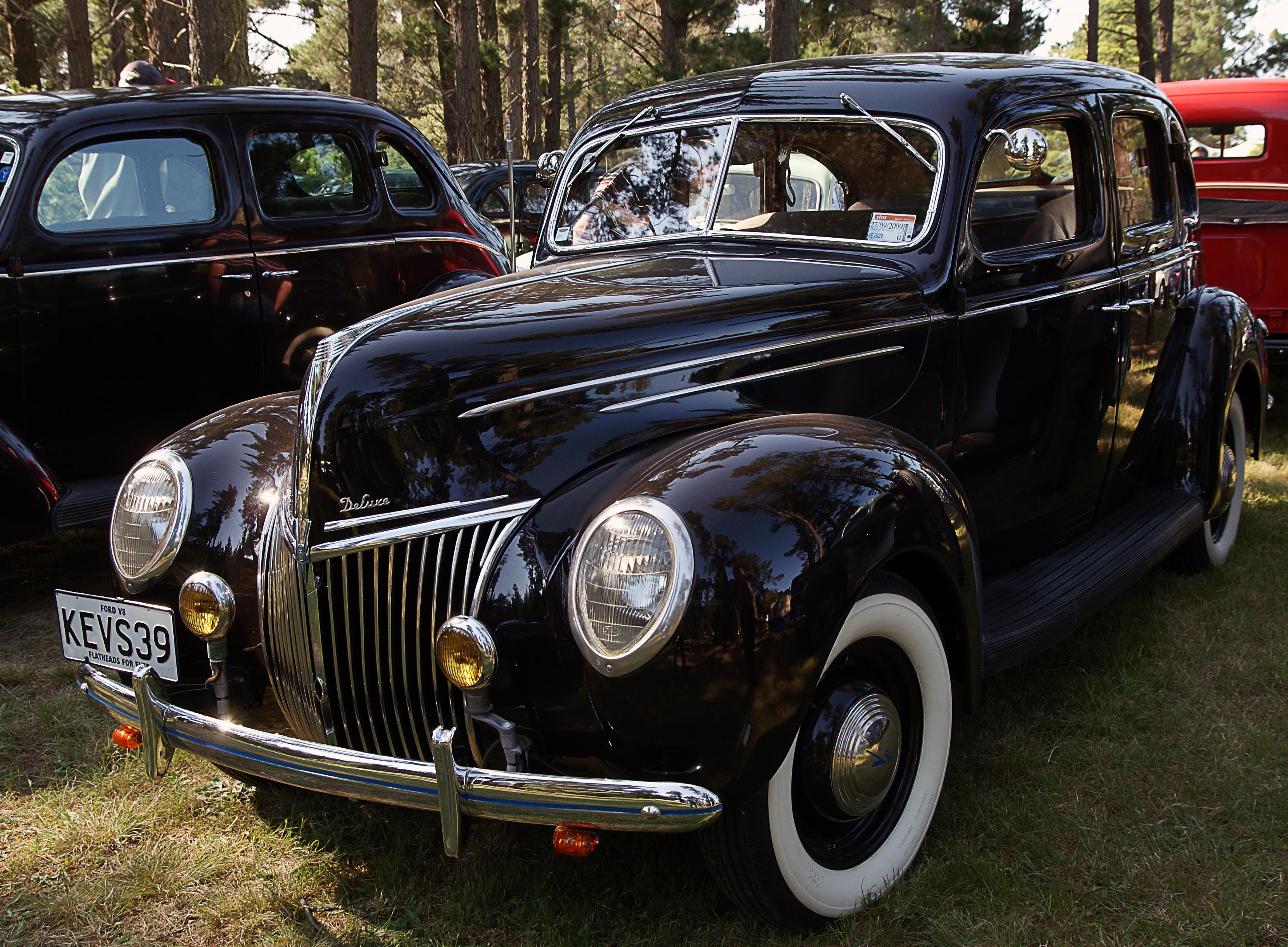 1938 Ford De Lux V8, Car, Free photos, Geo-Tagged, Lines, HQ Photo