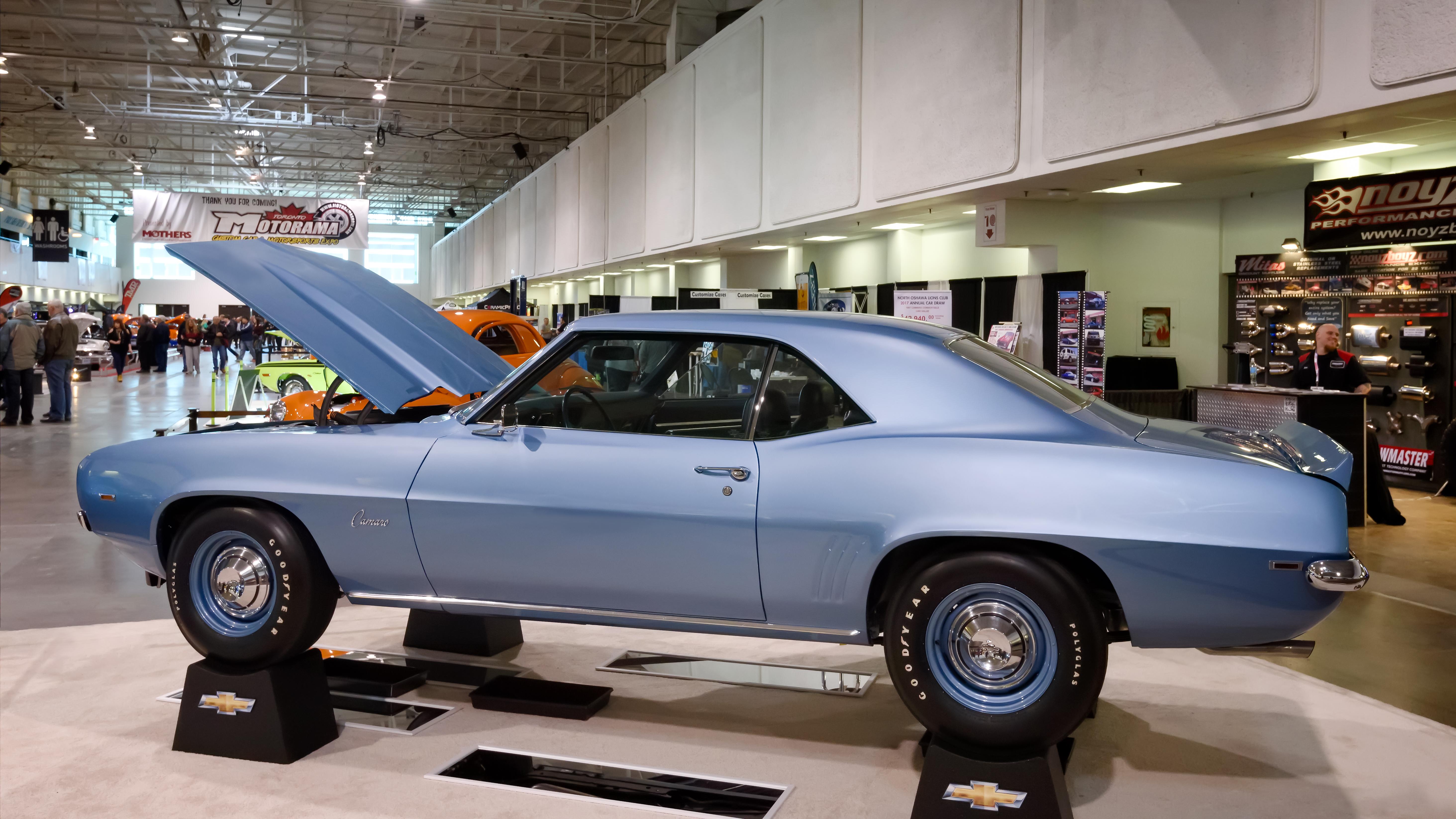 1969 COPO Camaro replica, 2017, Blue, Camaro, Car, HQ Photo
