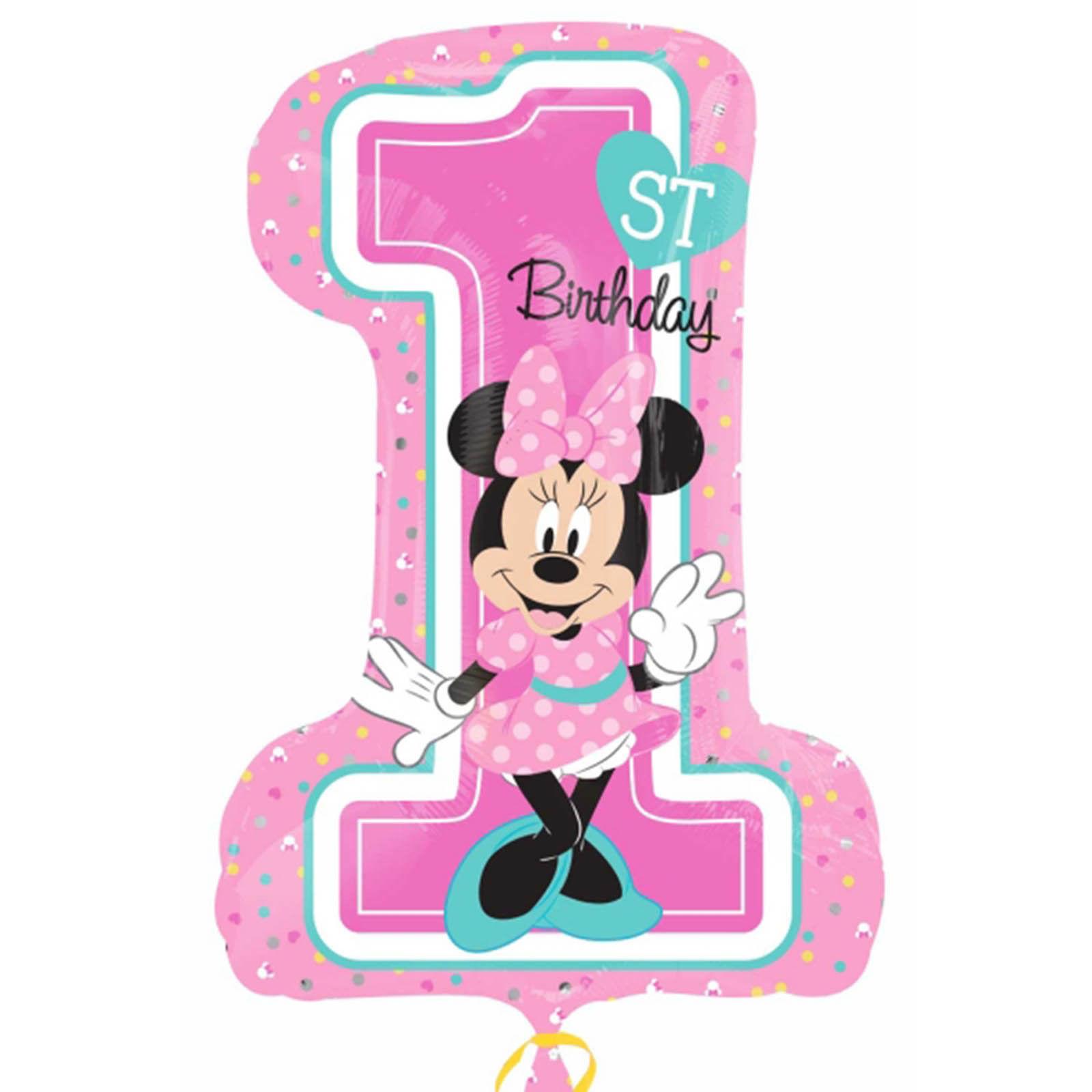 Minnie Mouse - 1st Birthday - Super Shape - Foil Balloon | Balloon Shop