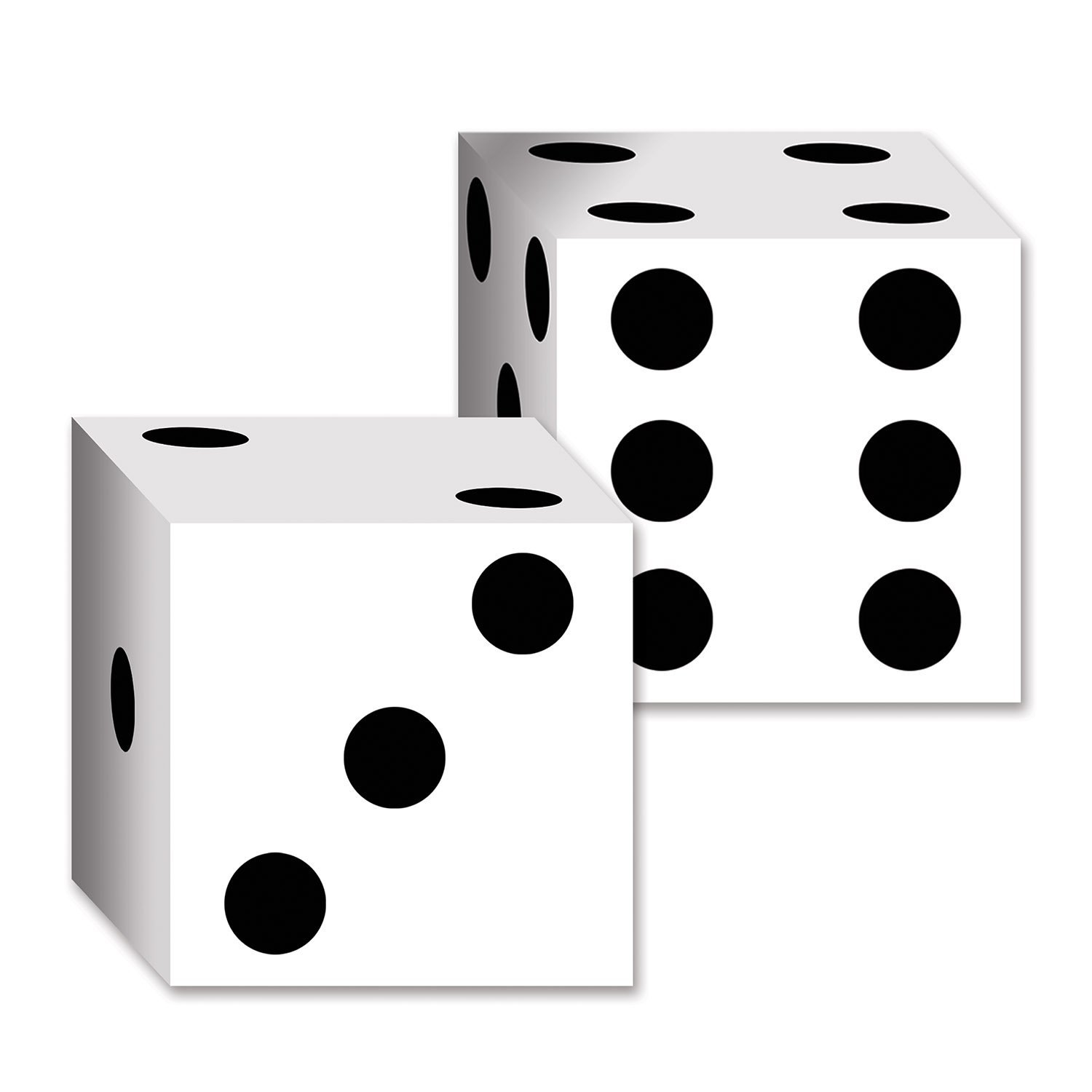 Amazon.com: Beistle 54132 2-Pack Dice Card Boxes, 6-1/2-Inch by 6-1 ...