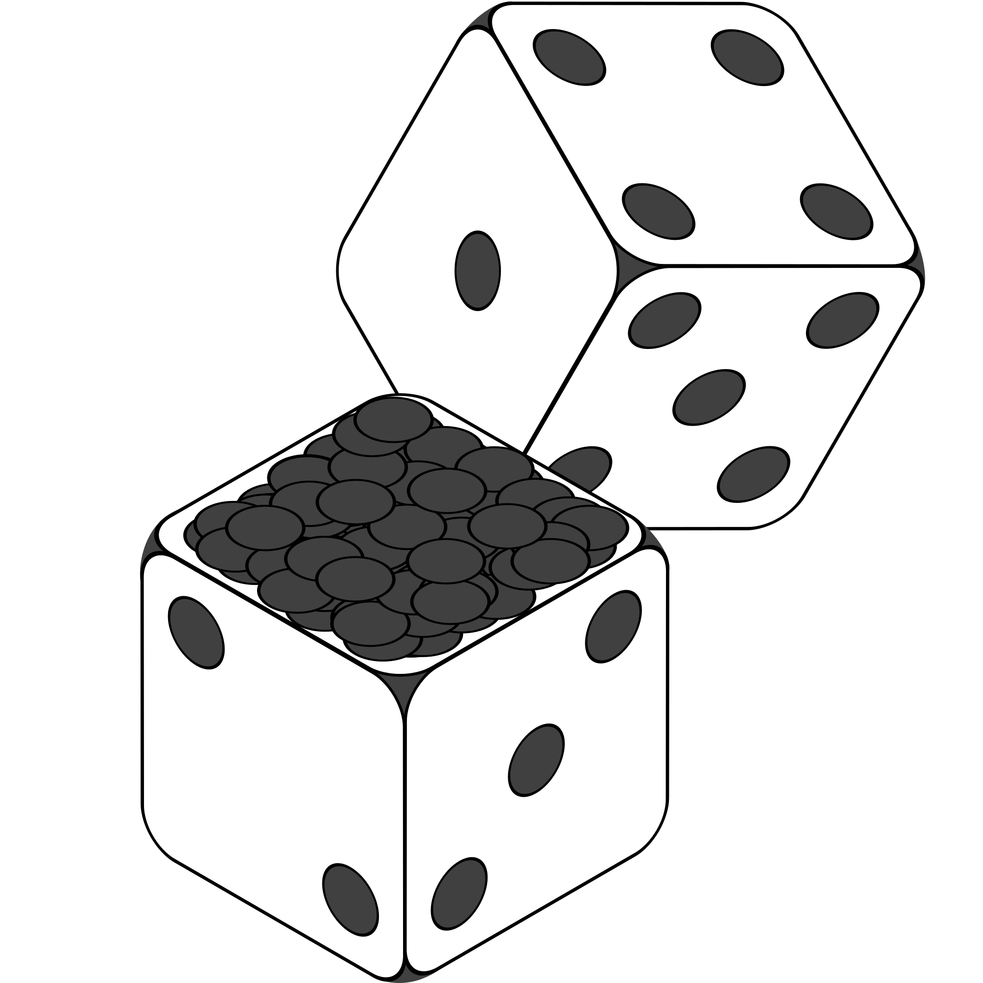 File:2-Dice-Icon Black Swan.svg - Wikimedia Commons