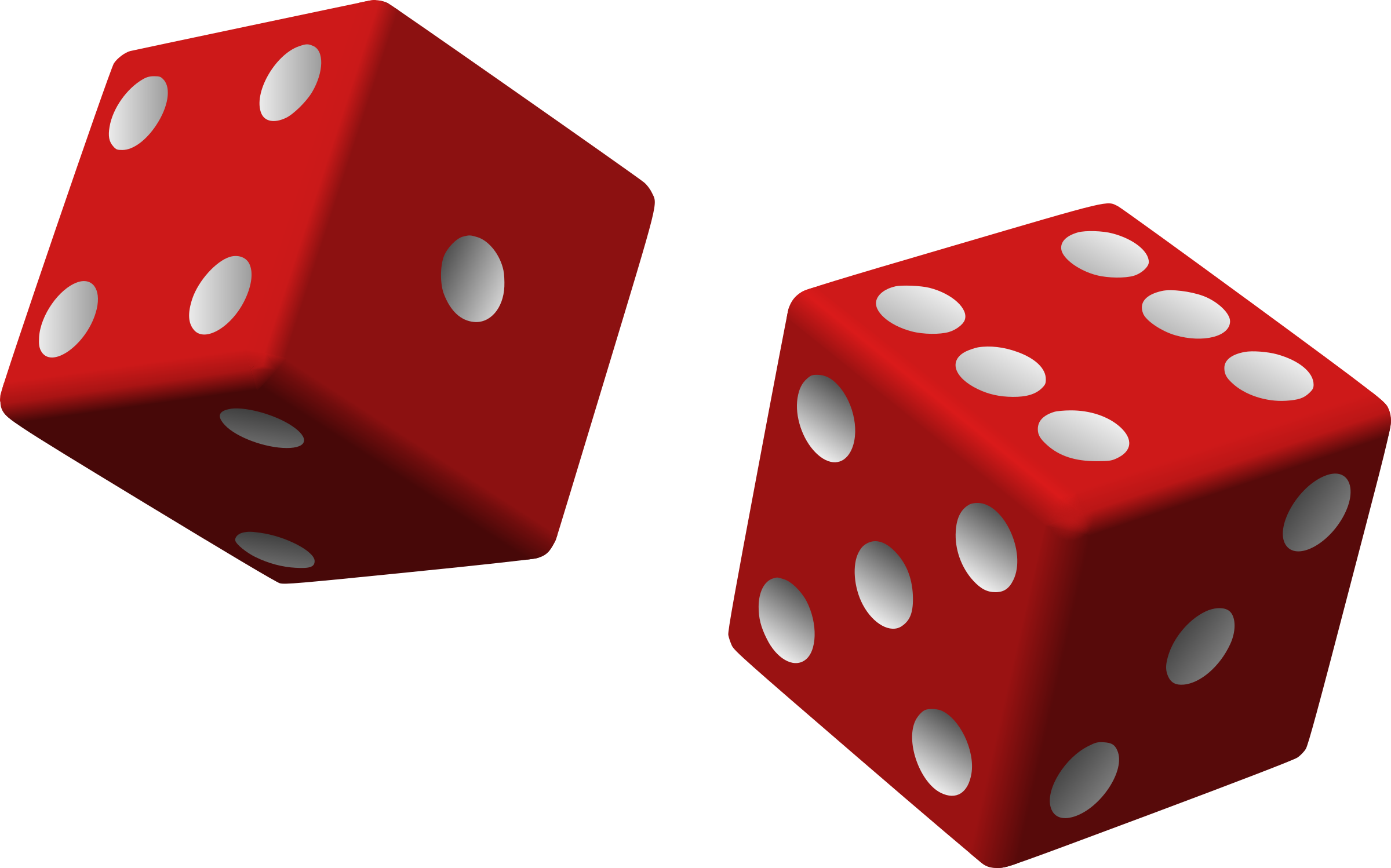 Clipart - two red dice