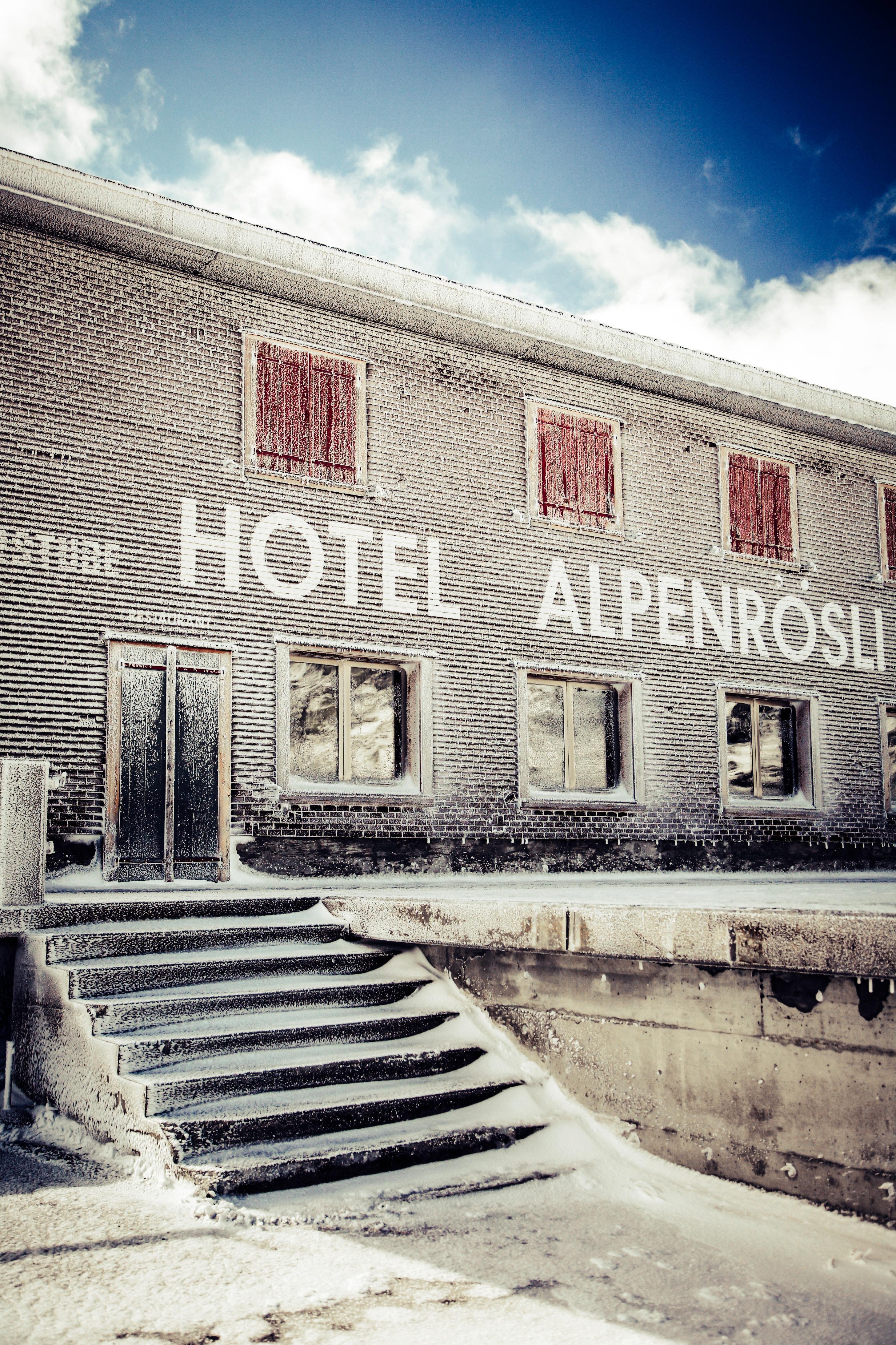 2 storey concrete hotel alpenrosli photo