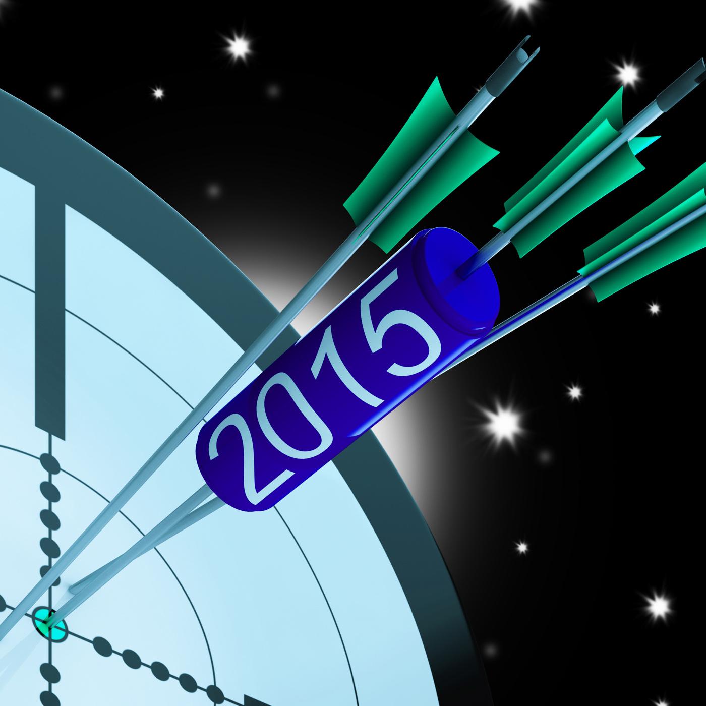 2015 Accurate Dart Target Shows Successful Future, 2015, Plan, Successful, Success, HQ Photo