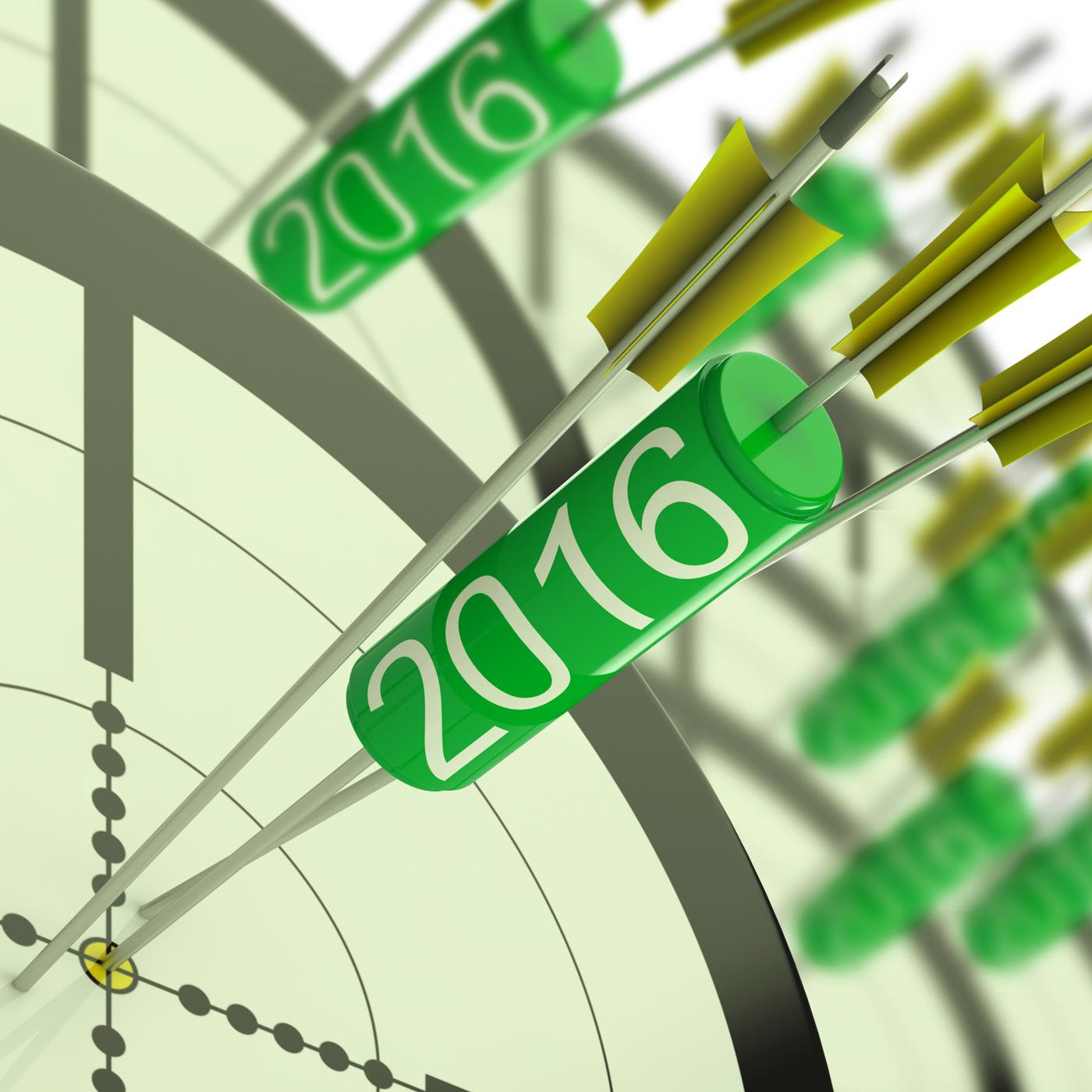 2016 Accurate Dart Target Shows Successful Future, 2016, Plan, Successful, Success, HQ Photo
