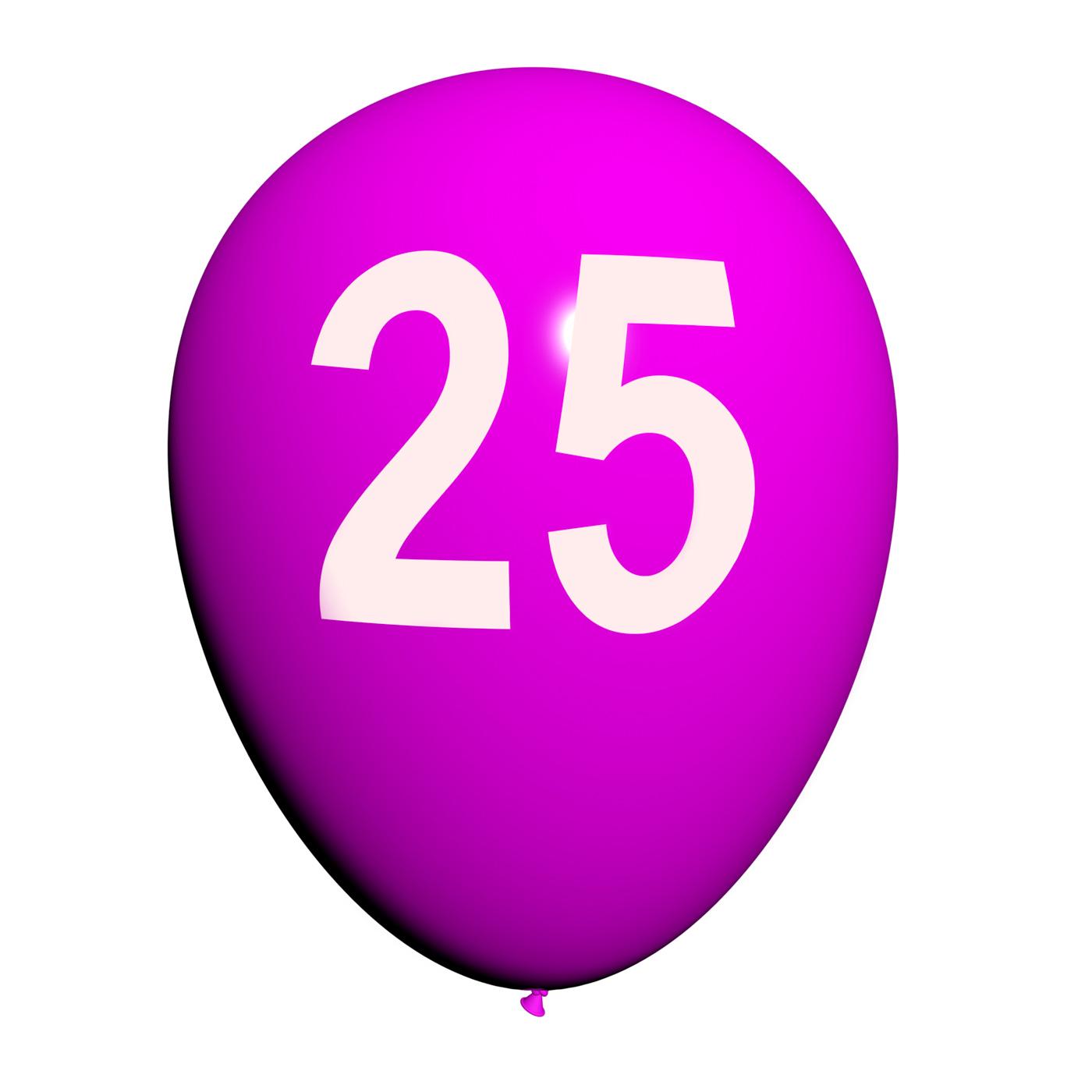 25 Balloon Shows Twenty-fifth Happy Birthday Celebration, 25, 25th, Adult, Adulthood, HQ Photo