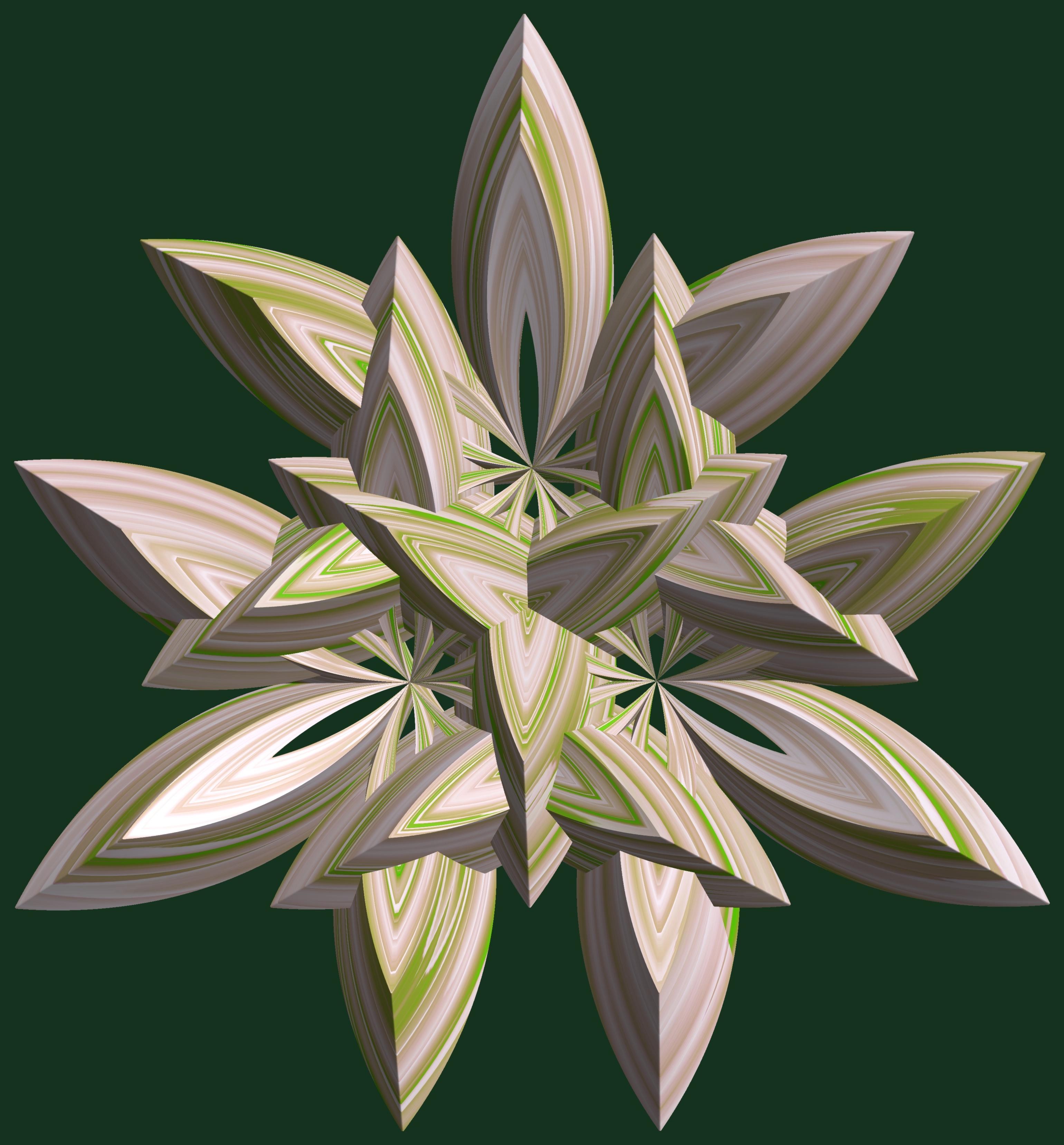 3 Crossing hexa-tori / 交差する3個の六芒星環, 3d, シンメトリー, たいしょうせい, ちゅうしょう, HQ Photo