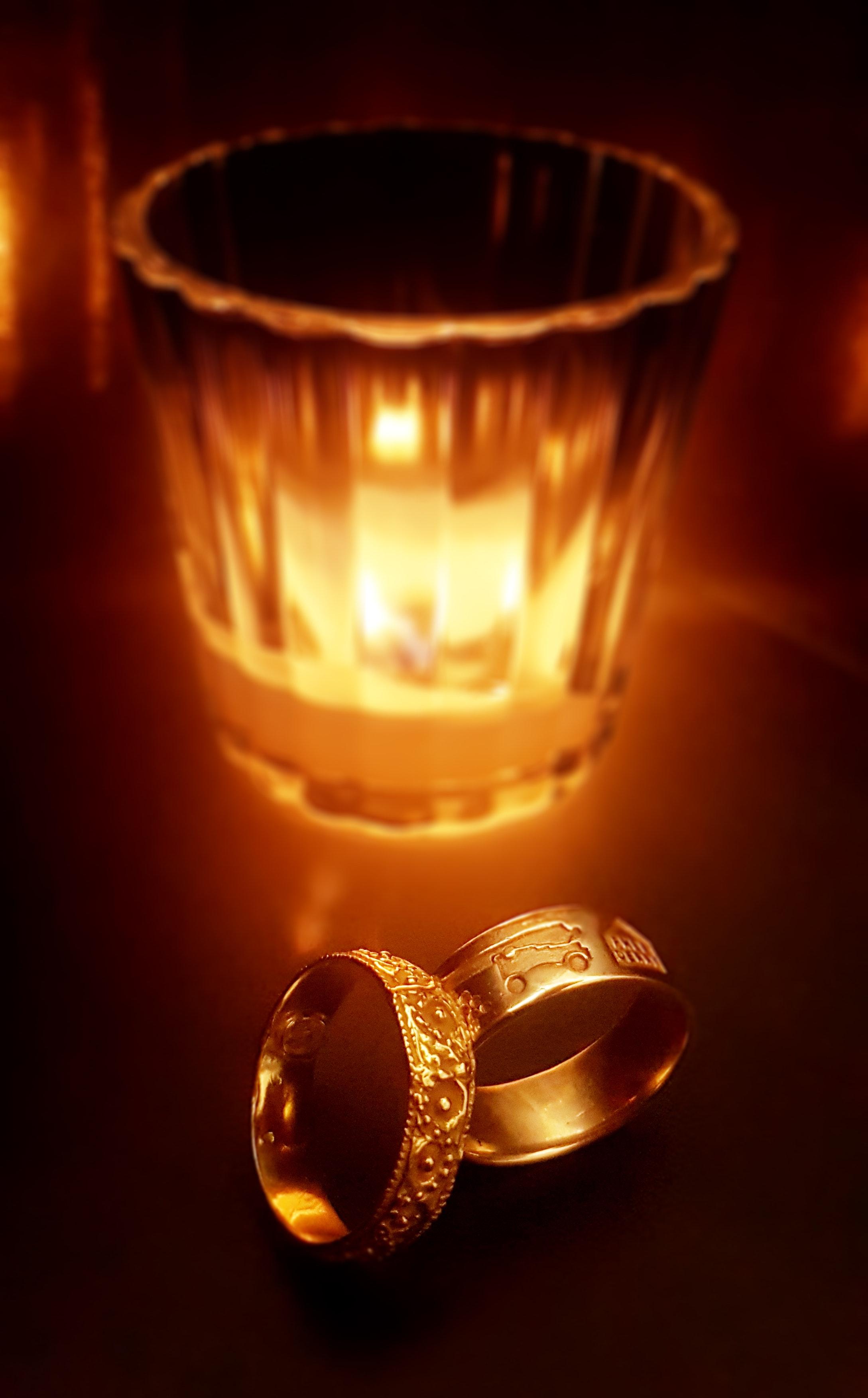 3 Gold Wedding Ring, Luxury, Love, Rings, Light, HQ Photo