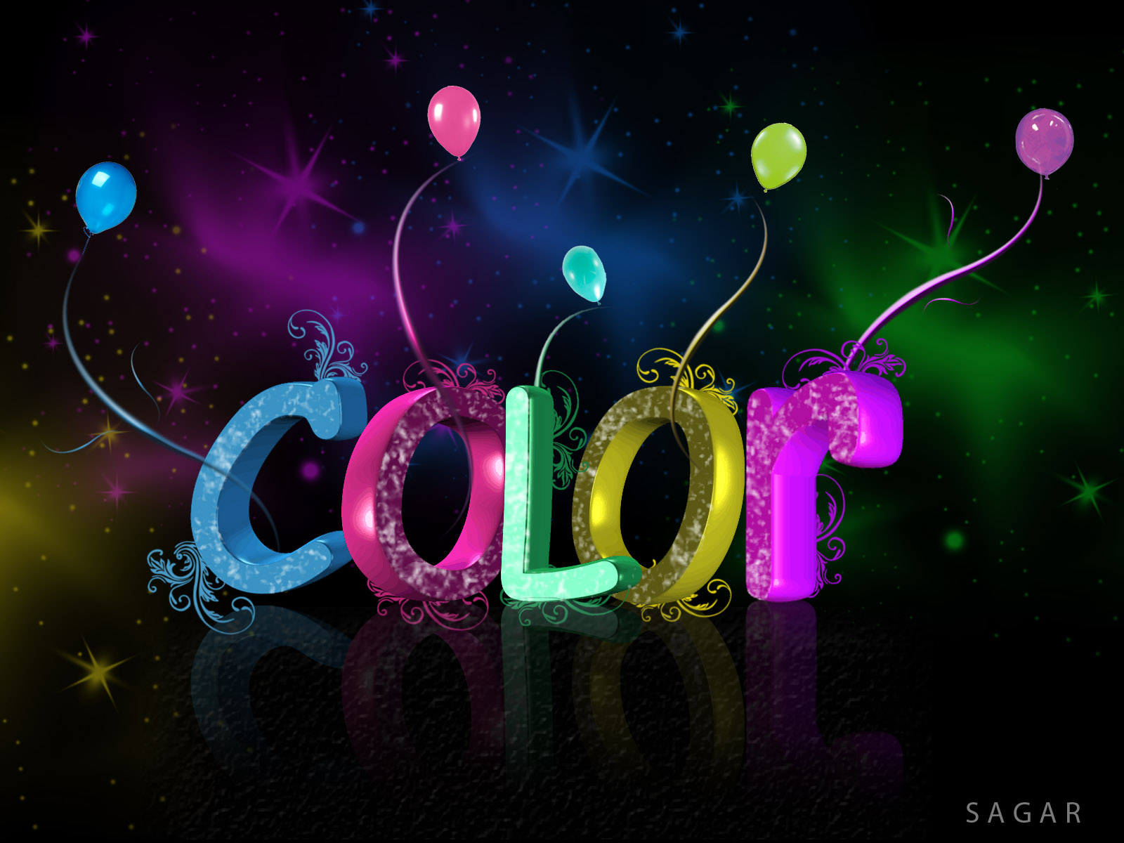 Free photo: 3D Colour Text - Text, Graphic, Color - Free