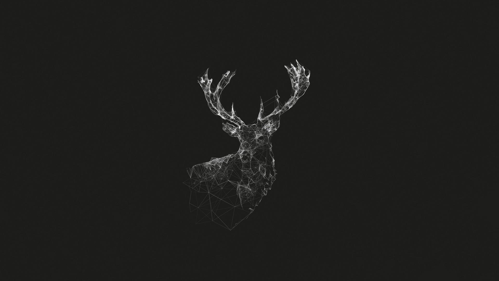Wallpaper : deer, digital art, animals, abstract, nature, artwork ...