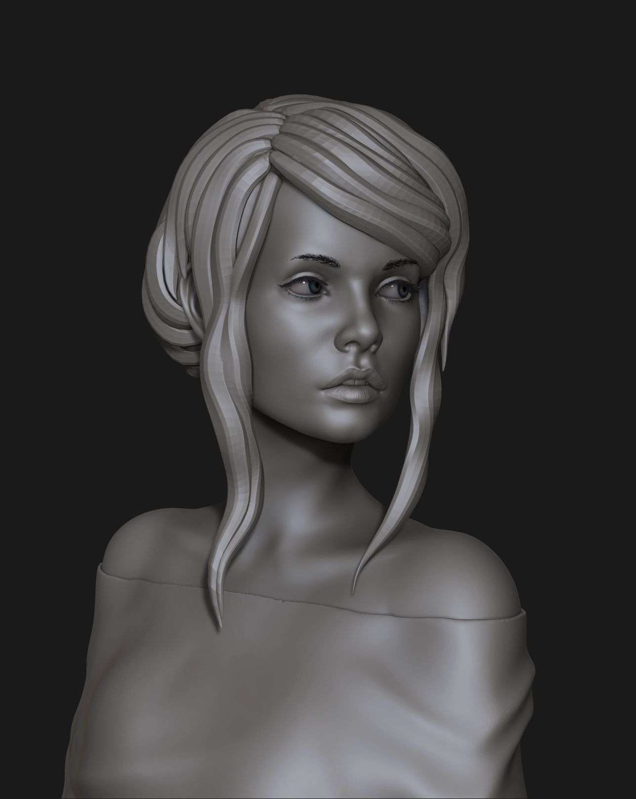 portrait of a cute girl 3D | CGTrader