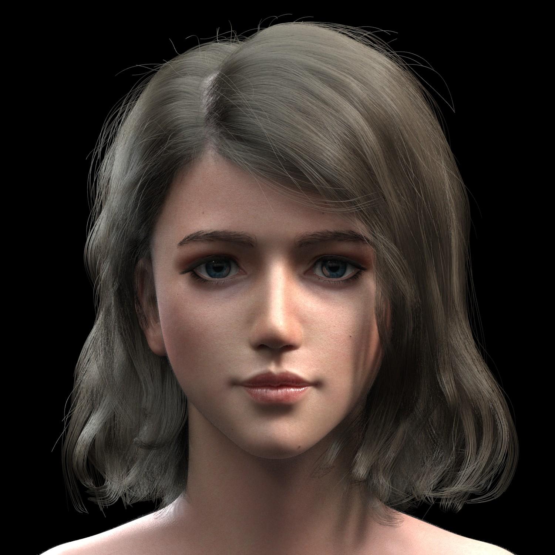 3d girl portrait photo