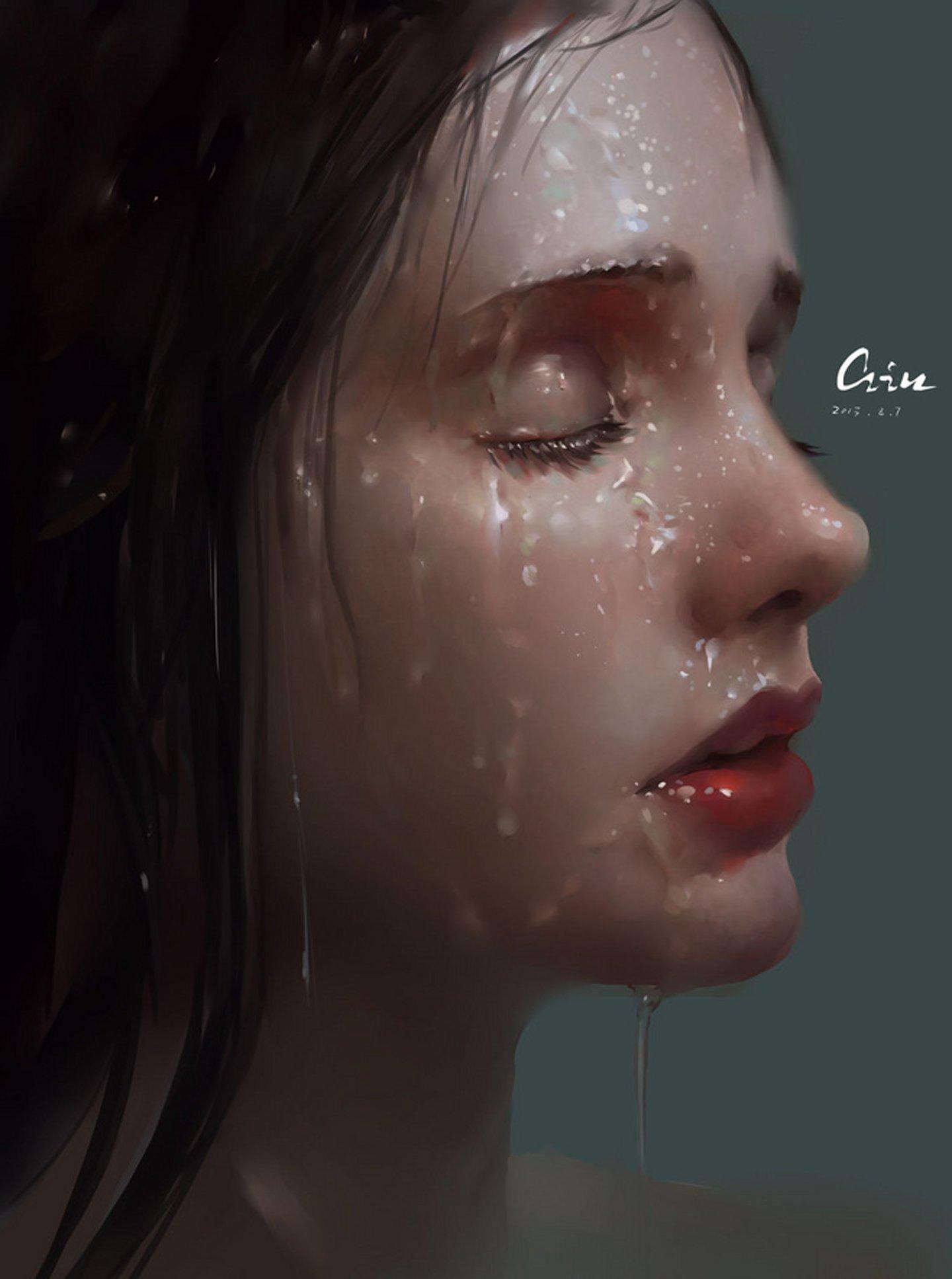Water girl lips red 3d wallpaper | 1440x1935 | 524465 | WallpaperUP