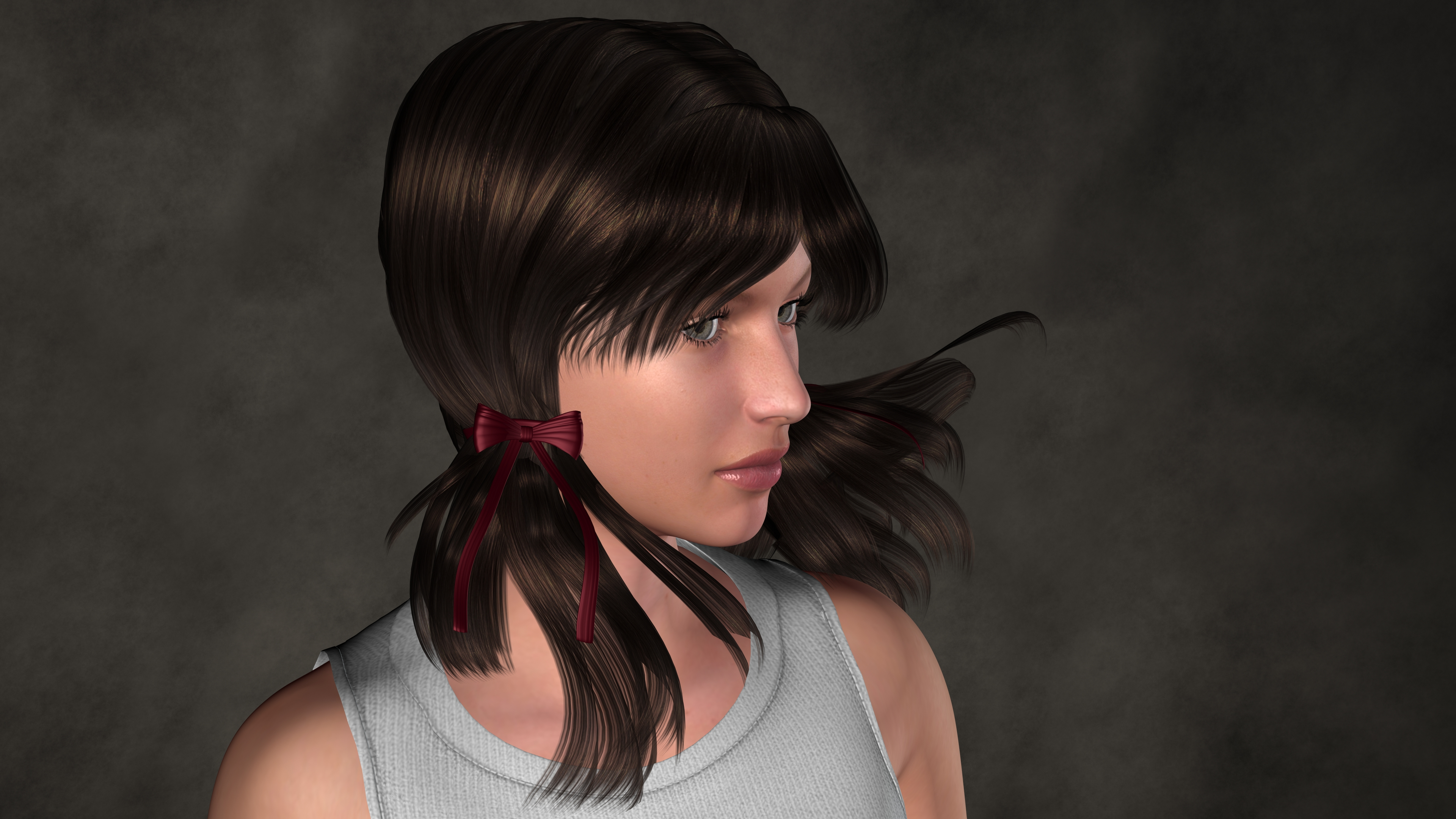 Free Photo 3d Girl Portrait Portrait Rendering Young Free
