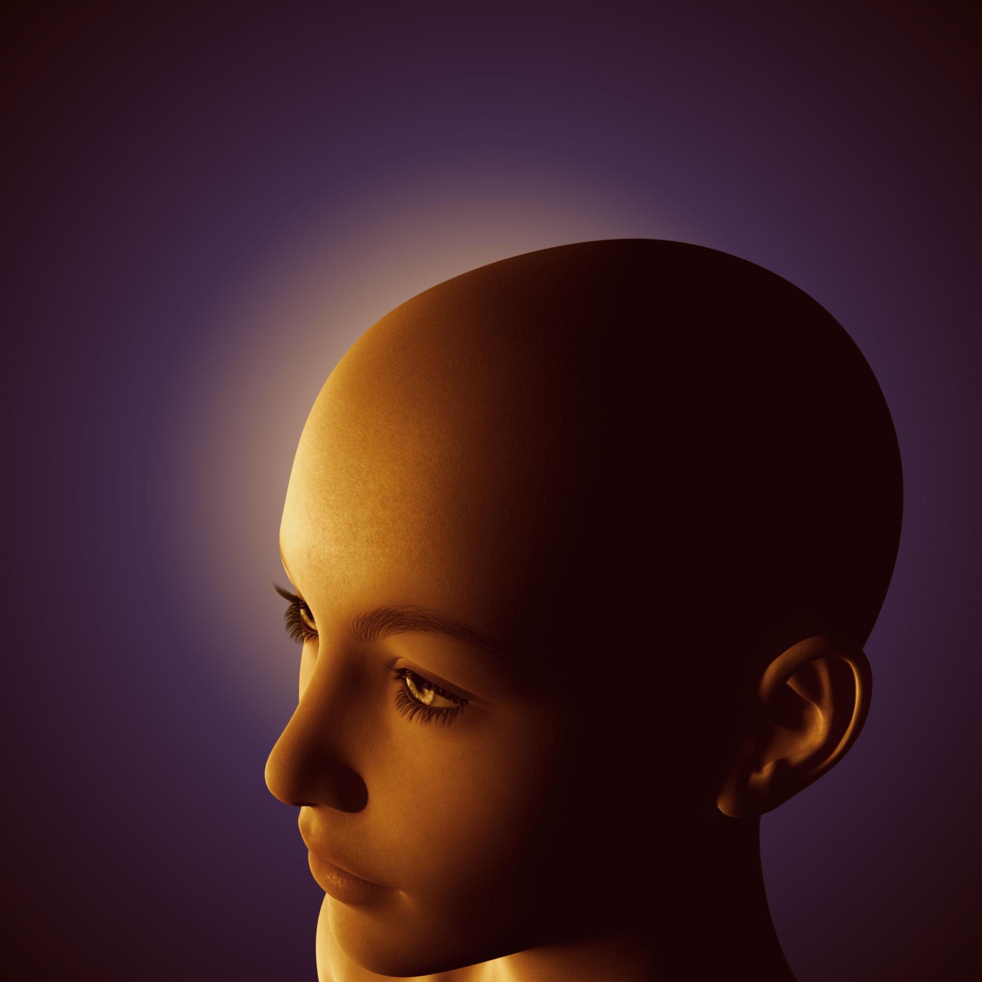 3D Girl Portrait, Light, Portrait, Woman, Illumination, HQ Photo