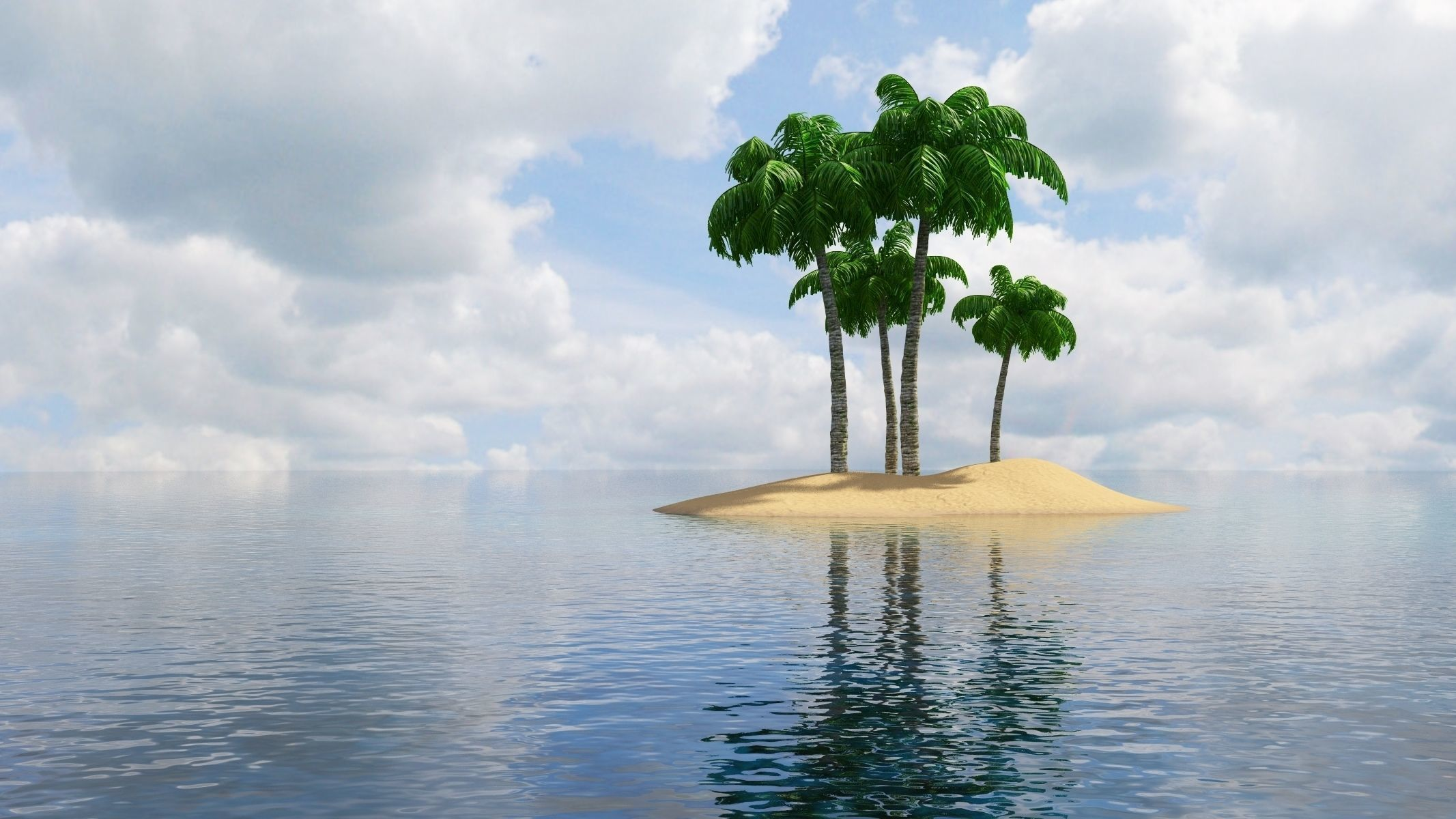 Island Scene 3D   CGTrader