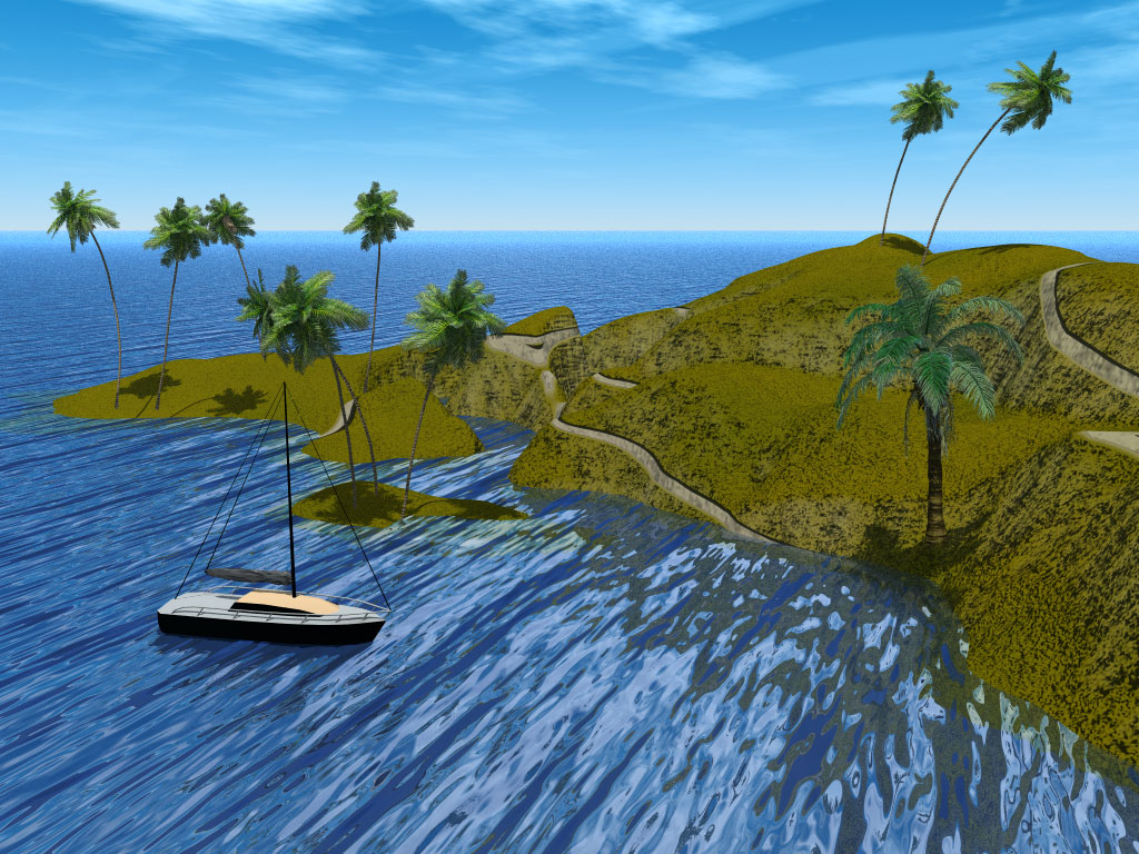 3d island photo
