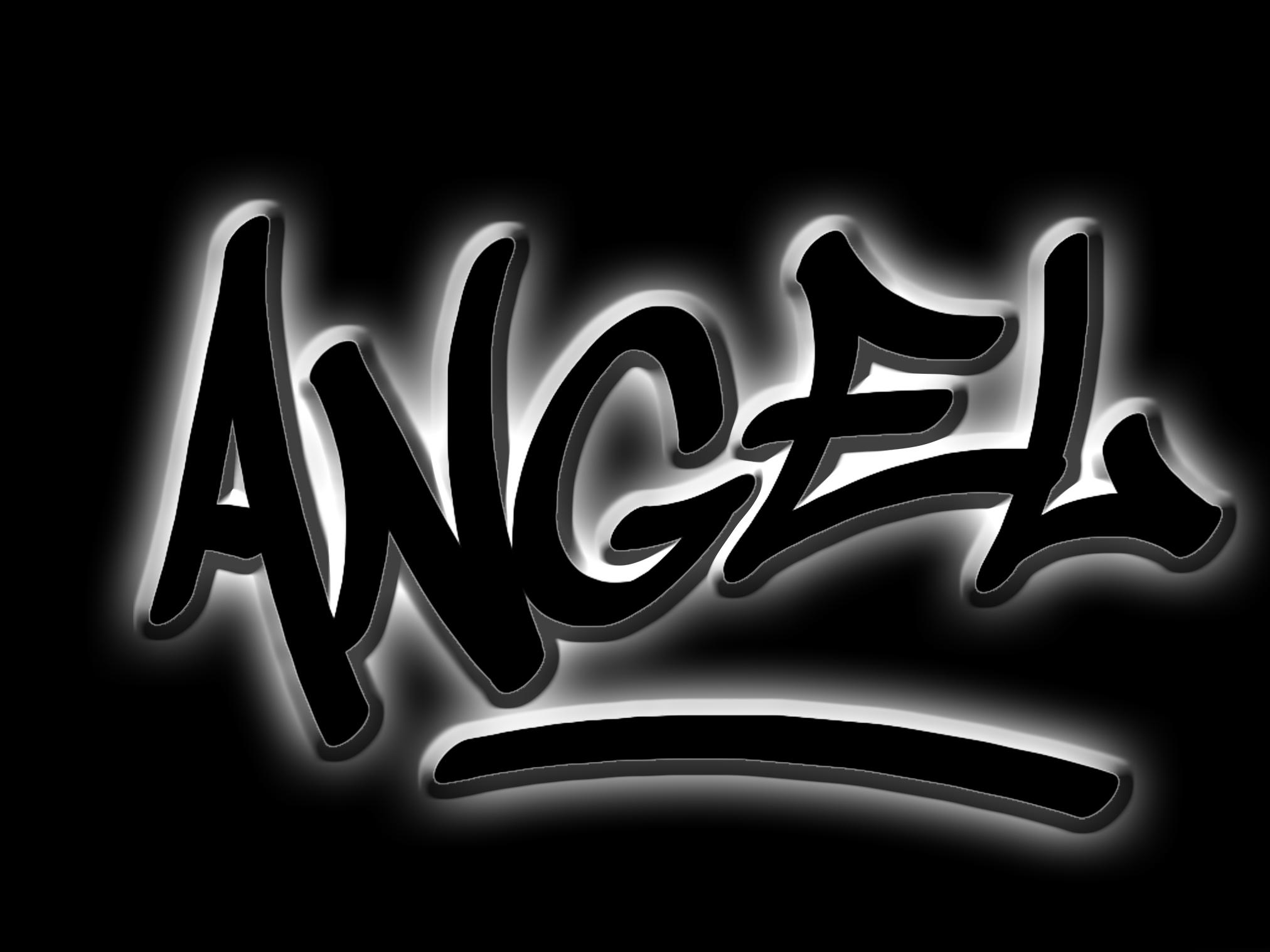 3d text, 3d, Angel, Black, Letters, HQ Photo