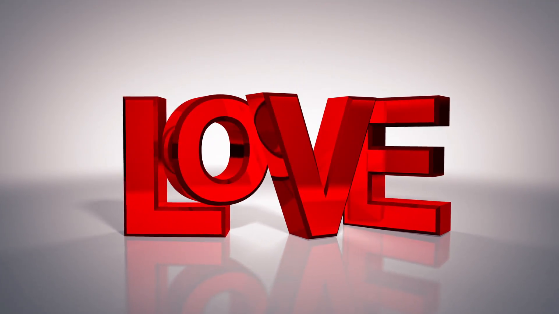 Love 3D Text Graphic Motion Background - Videoblocks