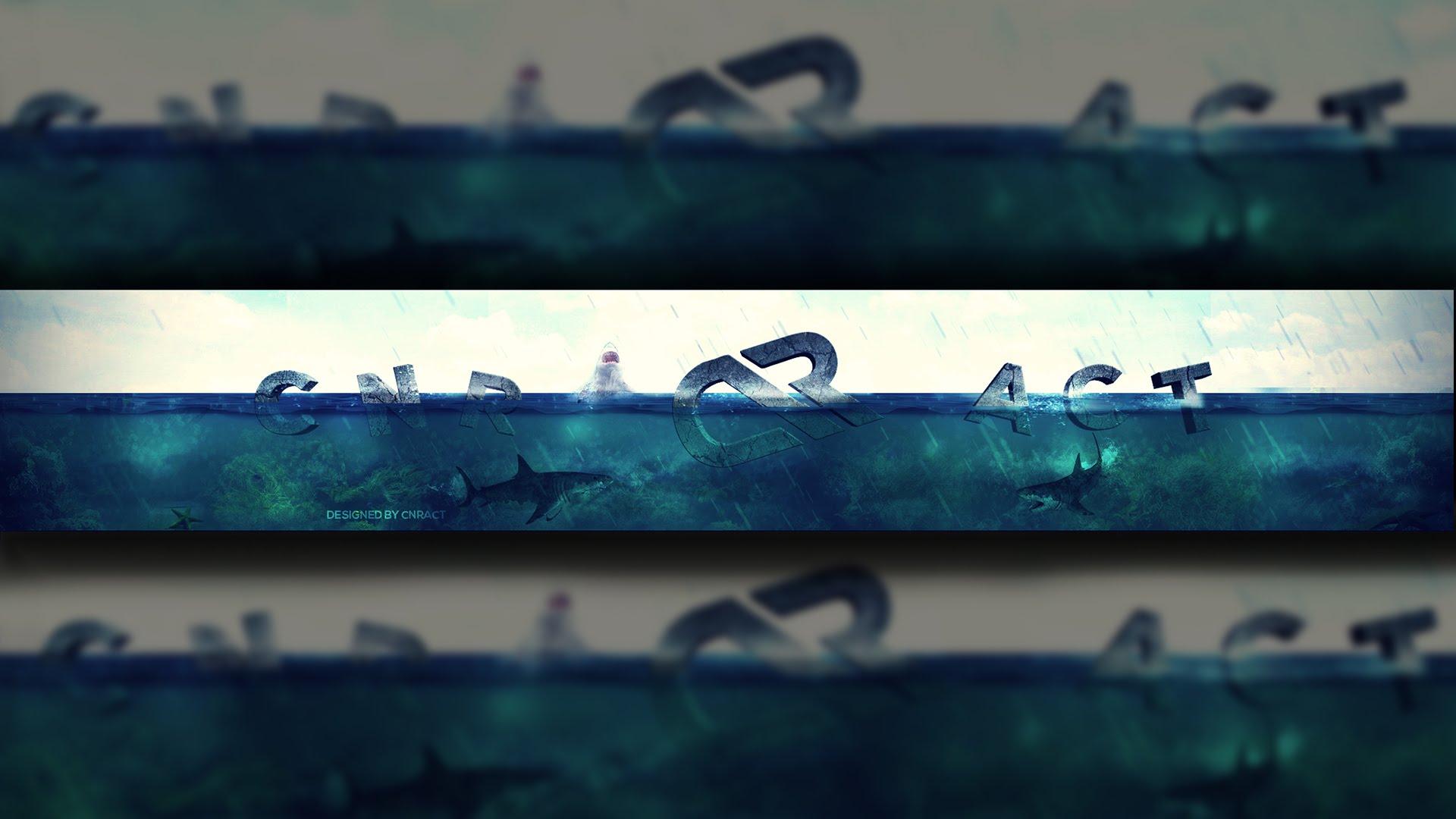 Surface Water 3D Banner - Speed Art (#Photoshop & #AE Element 3D ...
