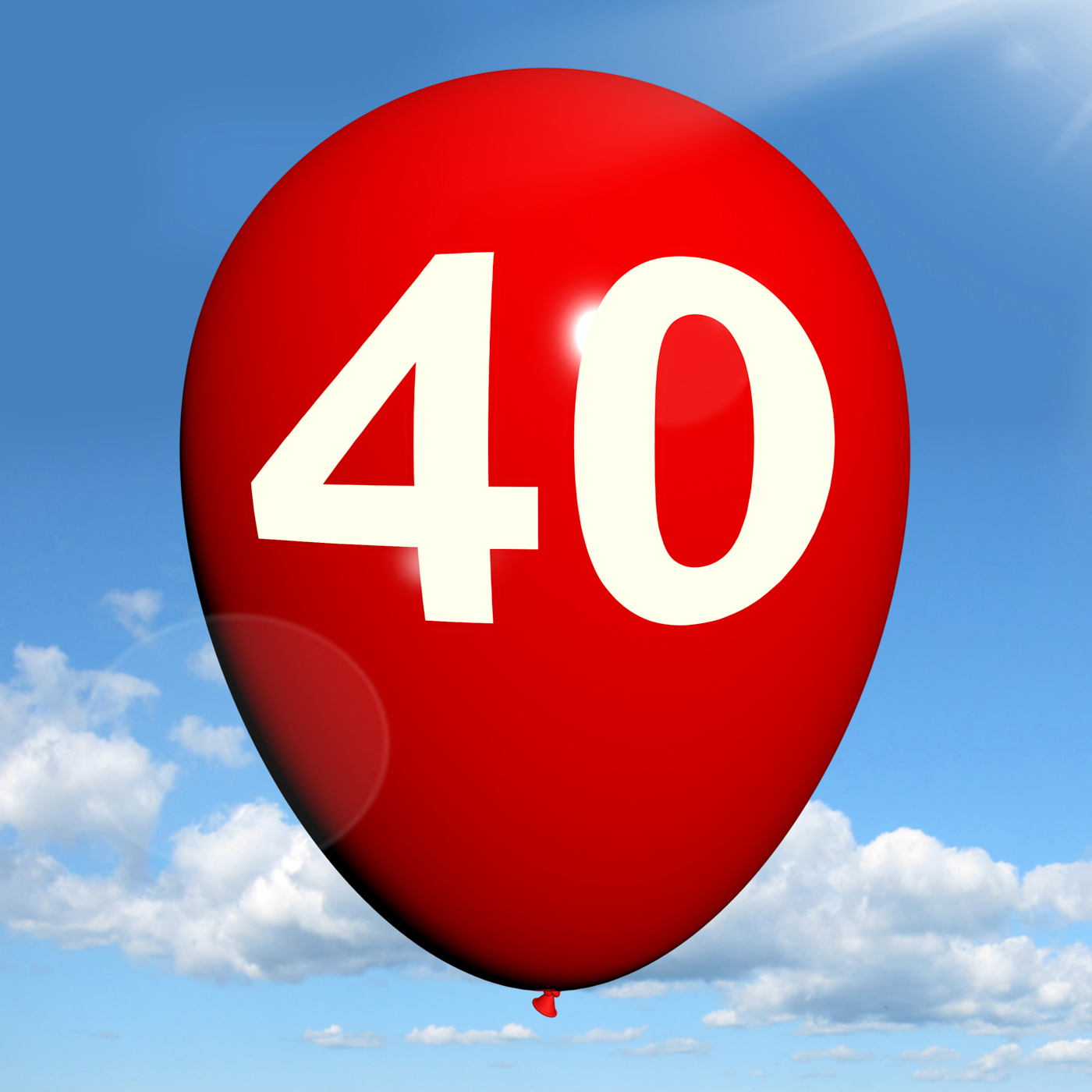 40 Balloon Shows Fortieth Happy Birthday Celebration, 40, 40th, Adult, Adulthood, HQ Photo