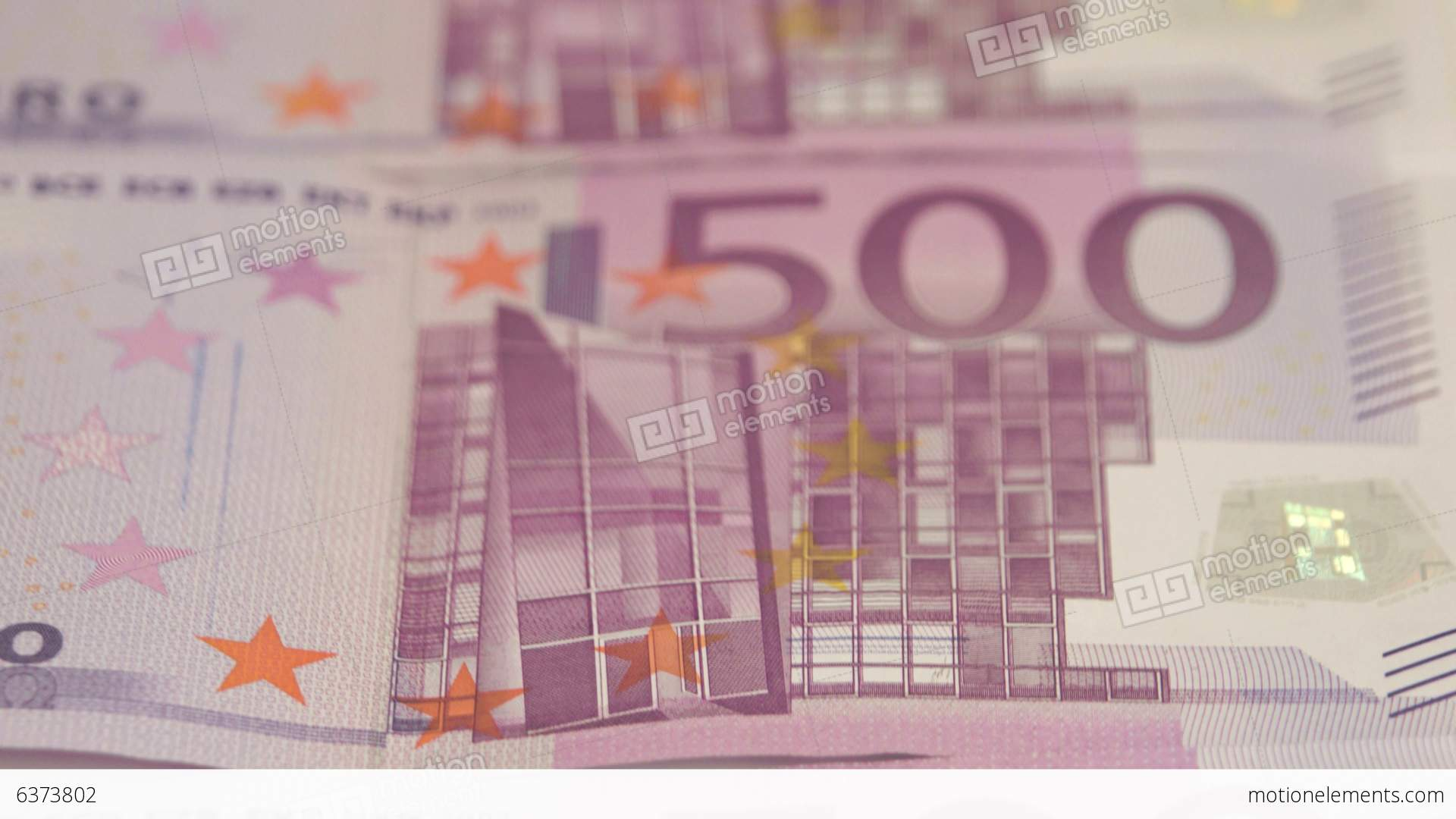 Closer View Of The 500 Euro Bill Stock video footage   6373802
