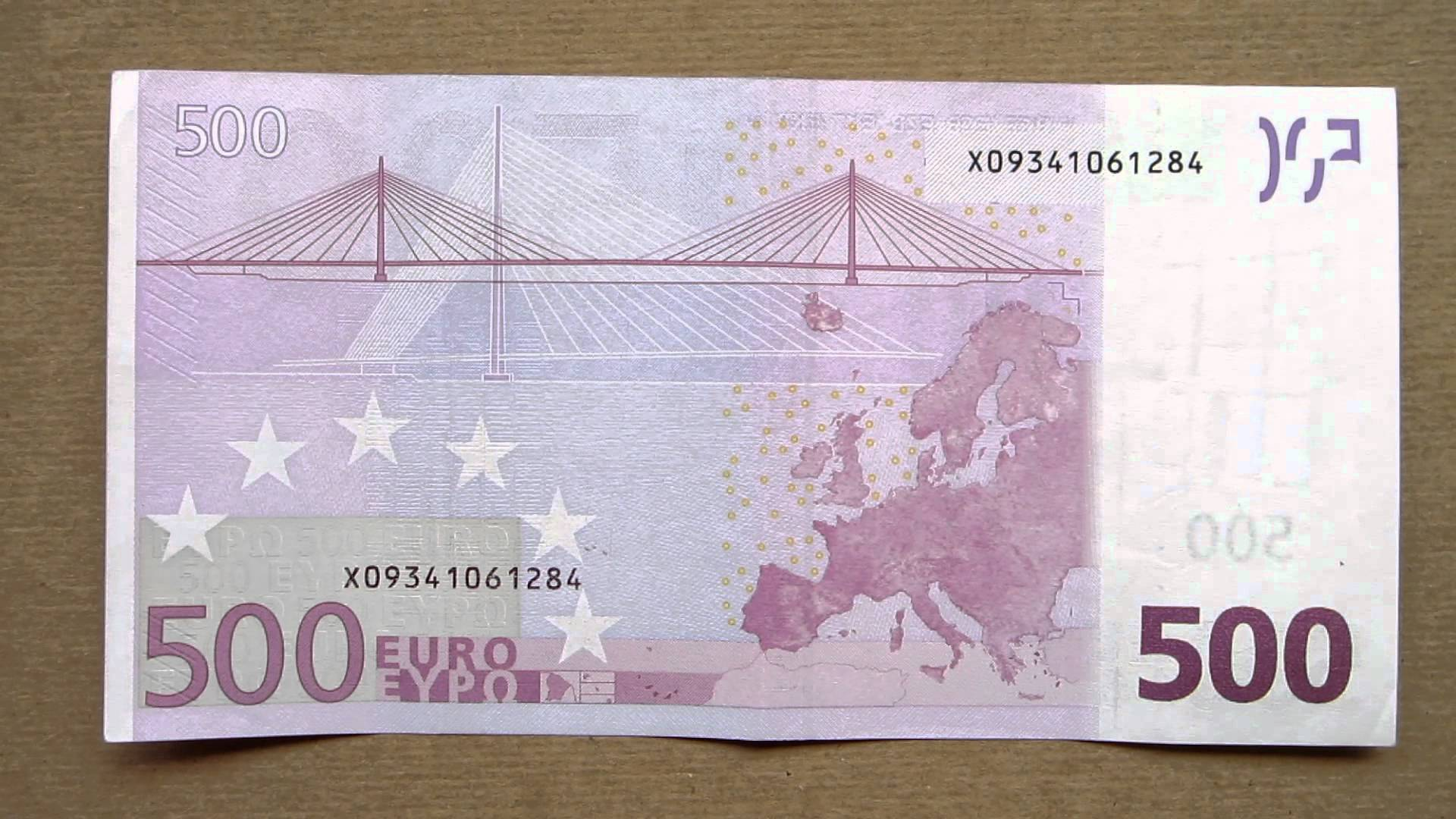 500 Euro Banknote (Five Hundred Euro / 2002) Face & Reverse - YouTube