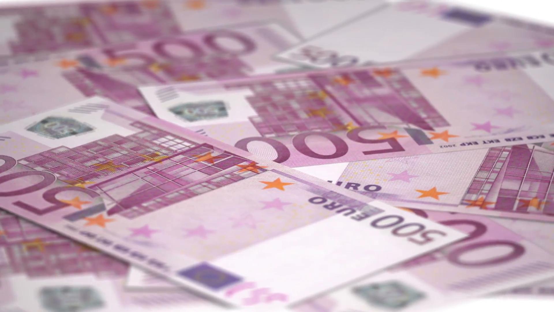 Rotating money 500 euro bills - money seamless loop Stock Video ...