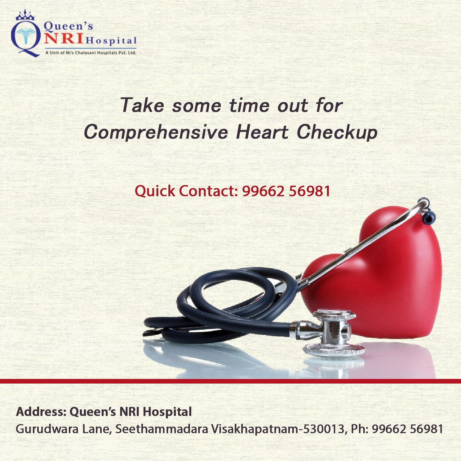 Take some time out for Comprehensive Heart Checkup For more details ...