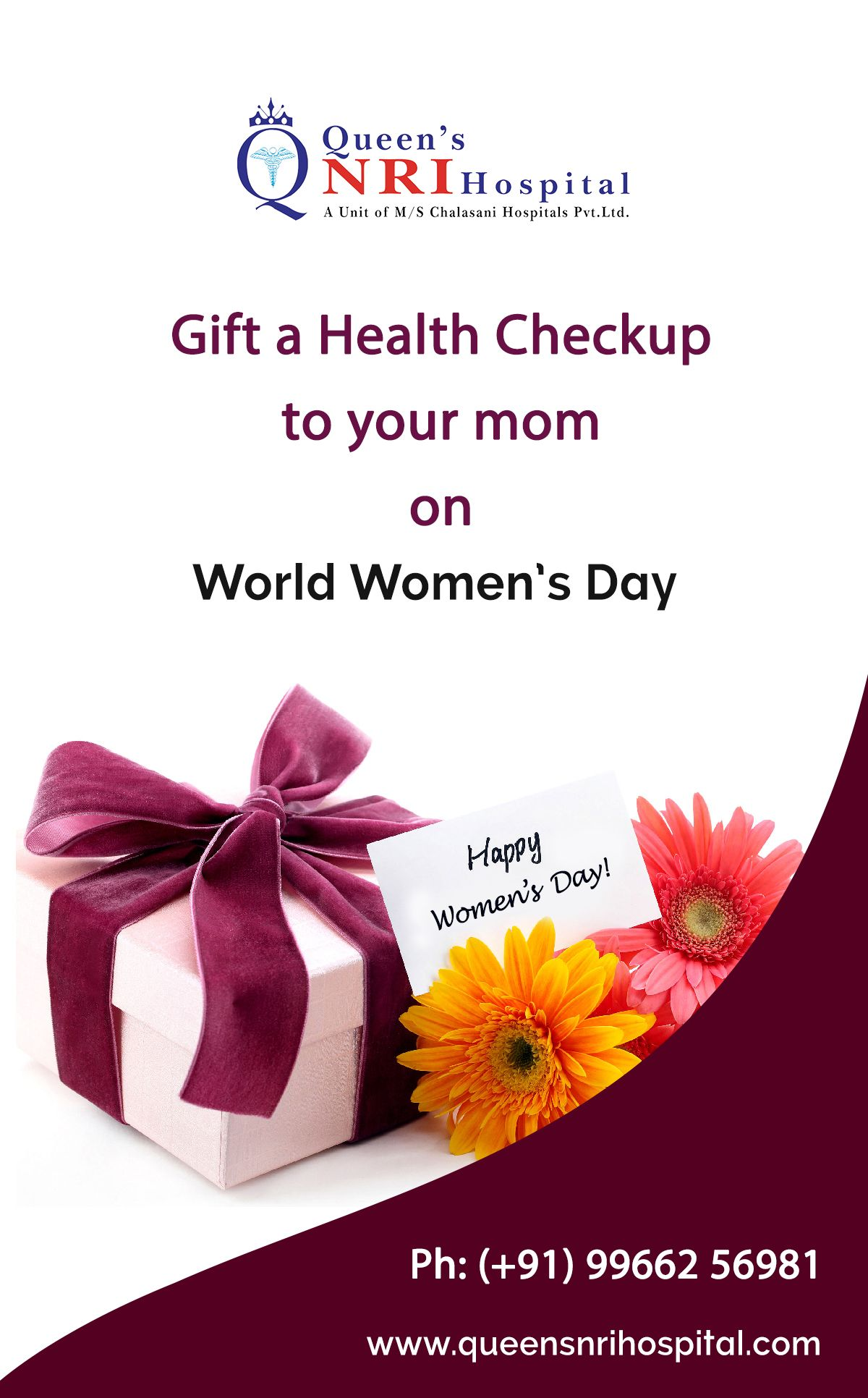 Gift a Health Checkup to your mom on World Women's Day - Queen's NRI ...