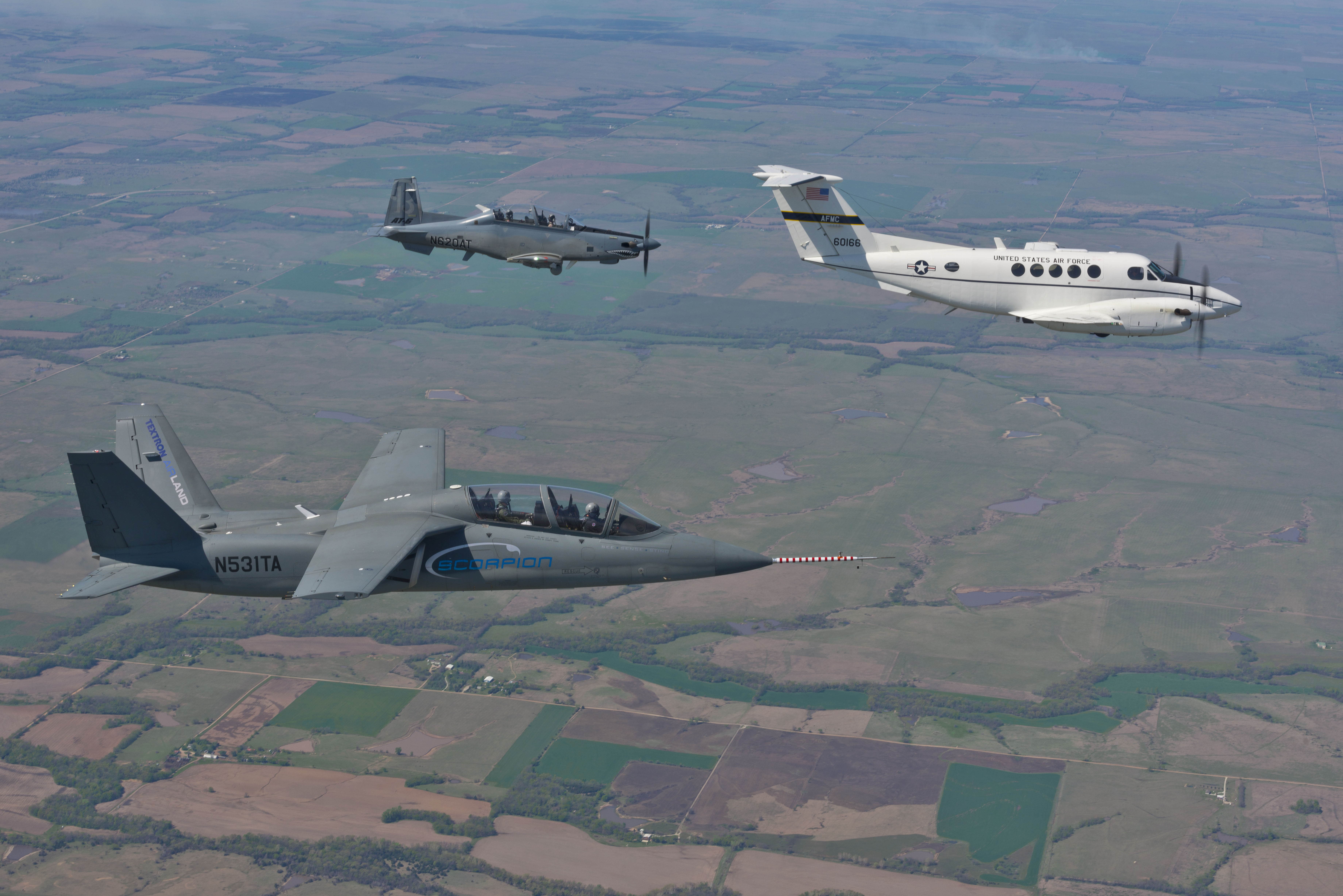 US Air Force Student Test Pilots Evaluate Textron Airland Scorpion ...