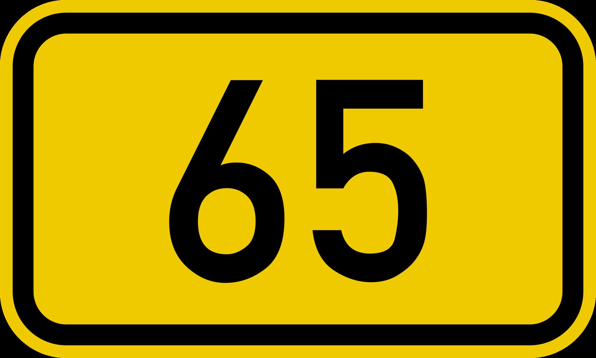 File:Bundesstraße 65 number.svg - Wikimedia Commons