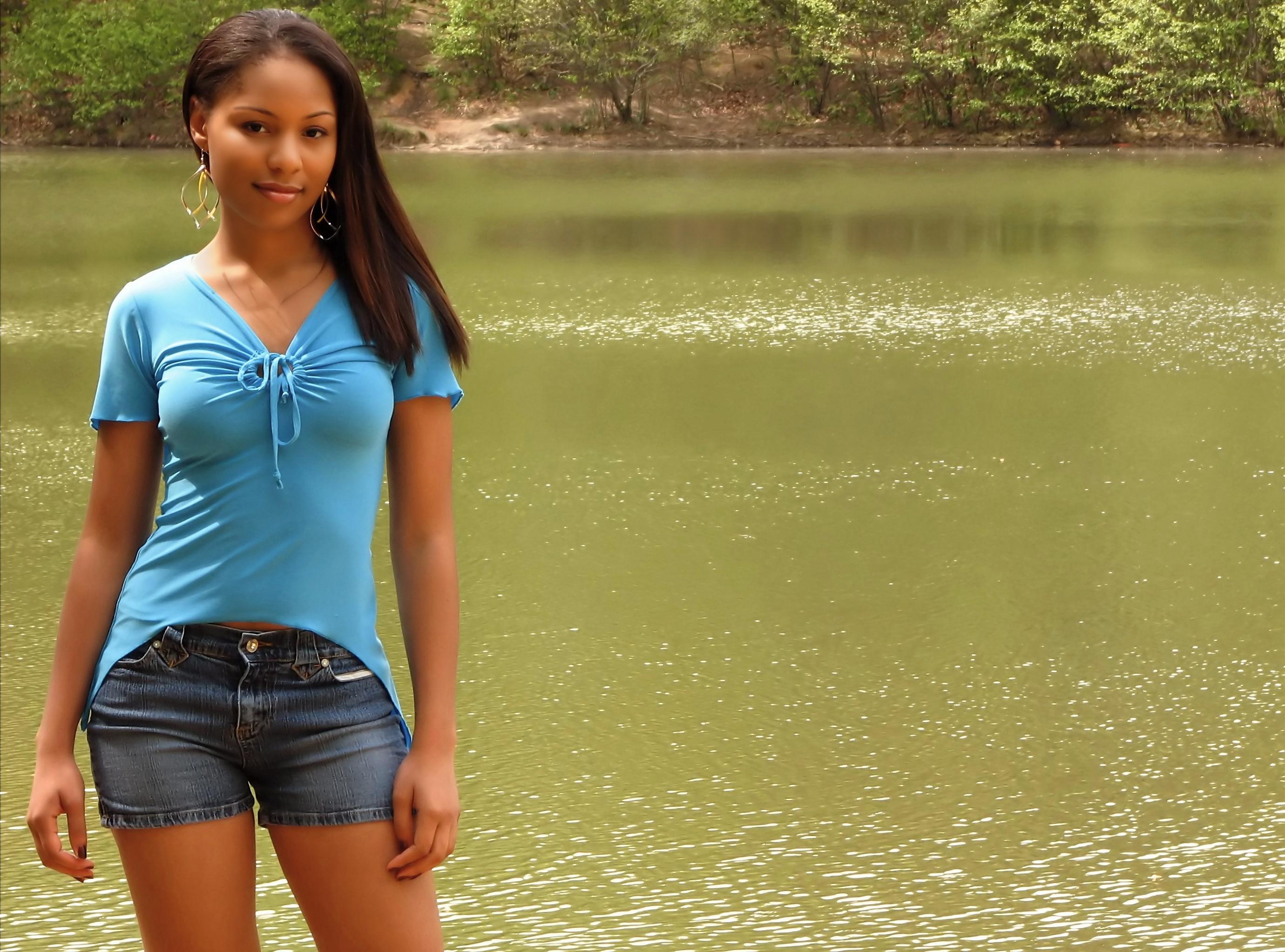 A beautiful African American teen girl, AfricanAmerican, Beautiful, Girls, Girls photos, HQ Photo