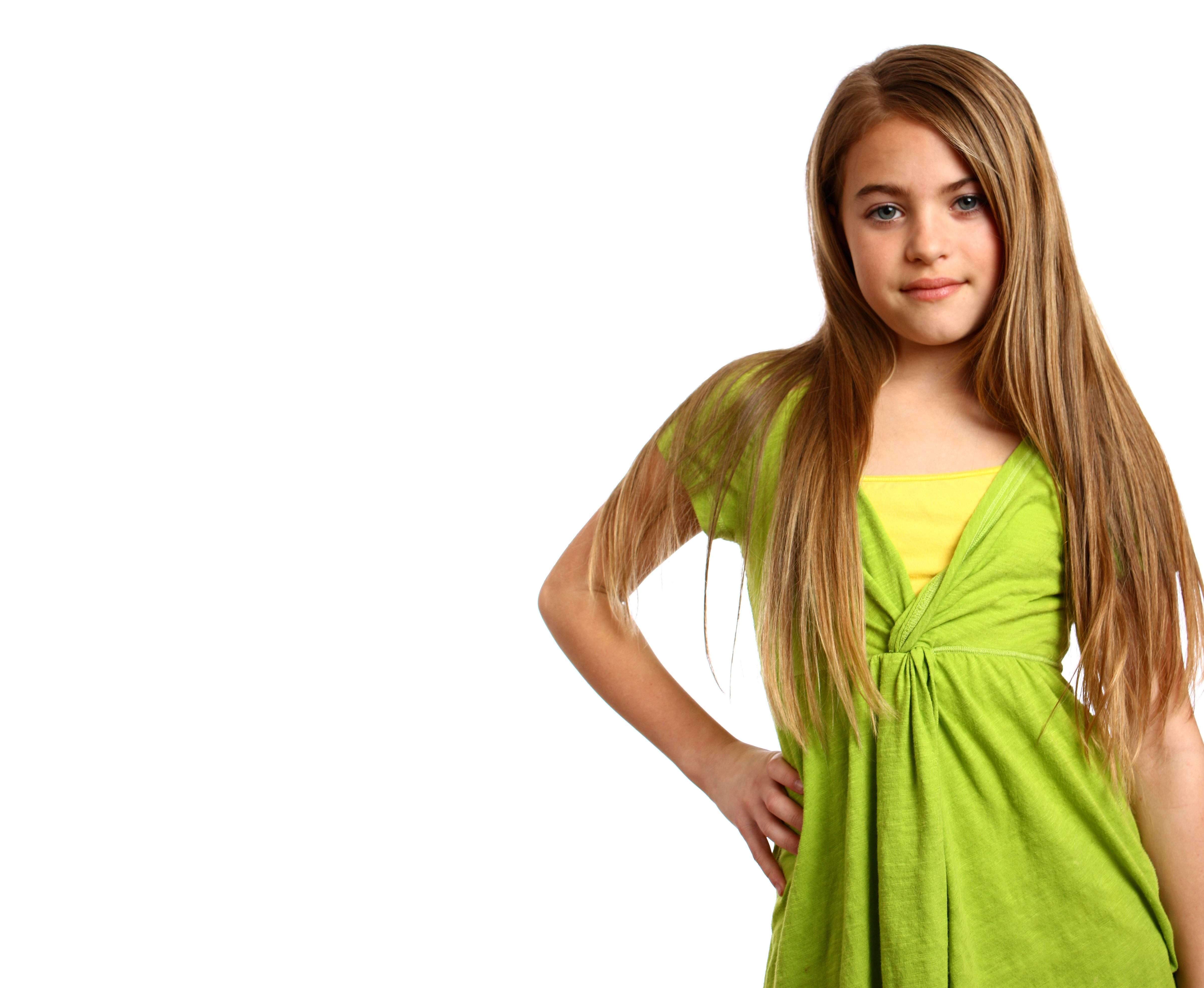 A beautiful young girl posing photo