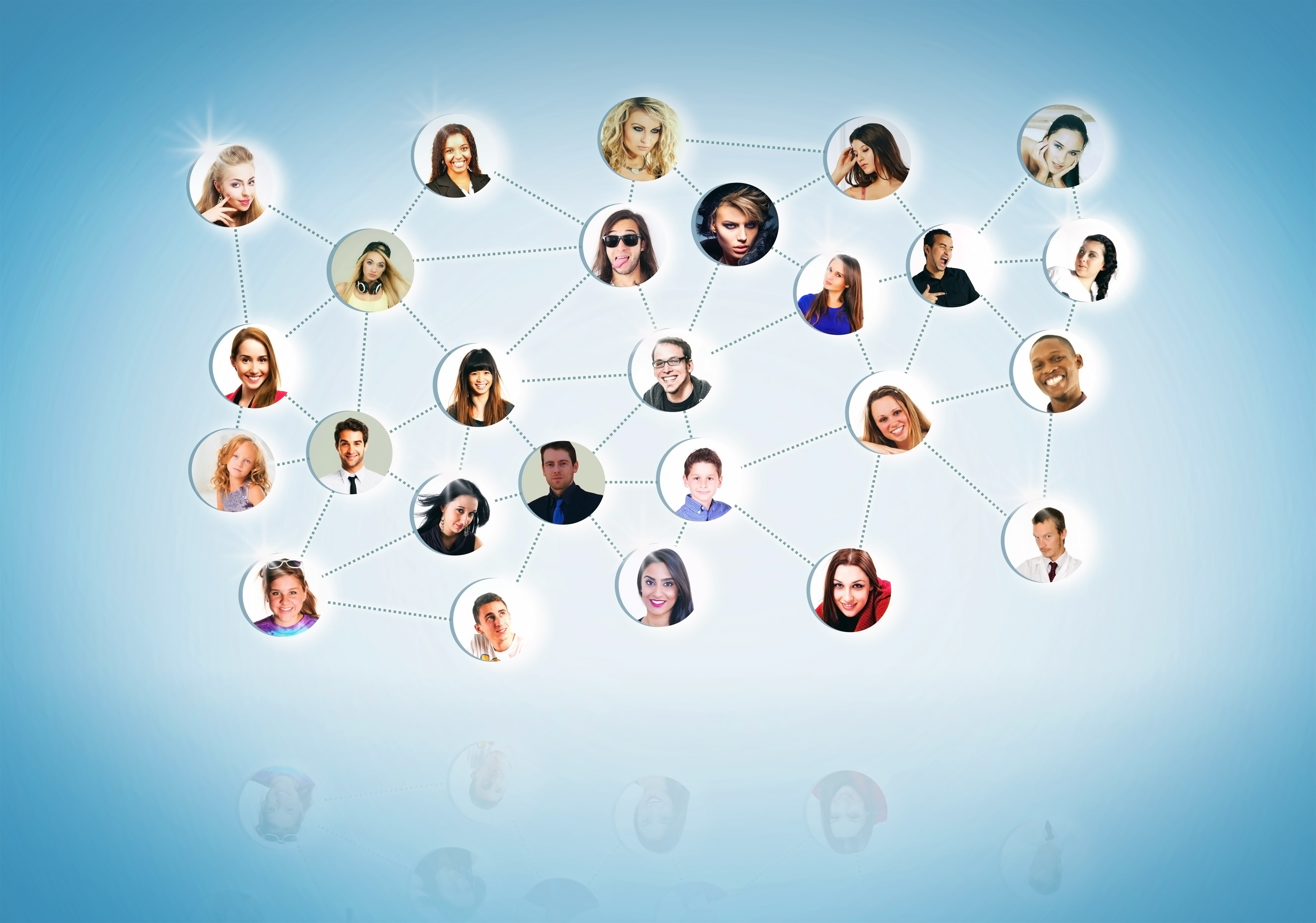 A Network of People - Networking Concept, Abstract, Organizer, Professionals, Portrait, HQ Photo