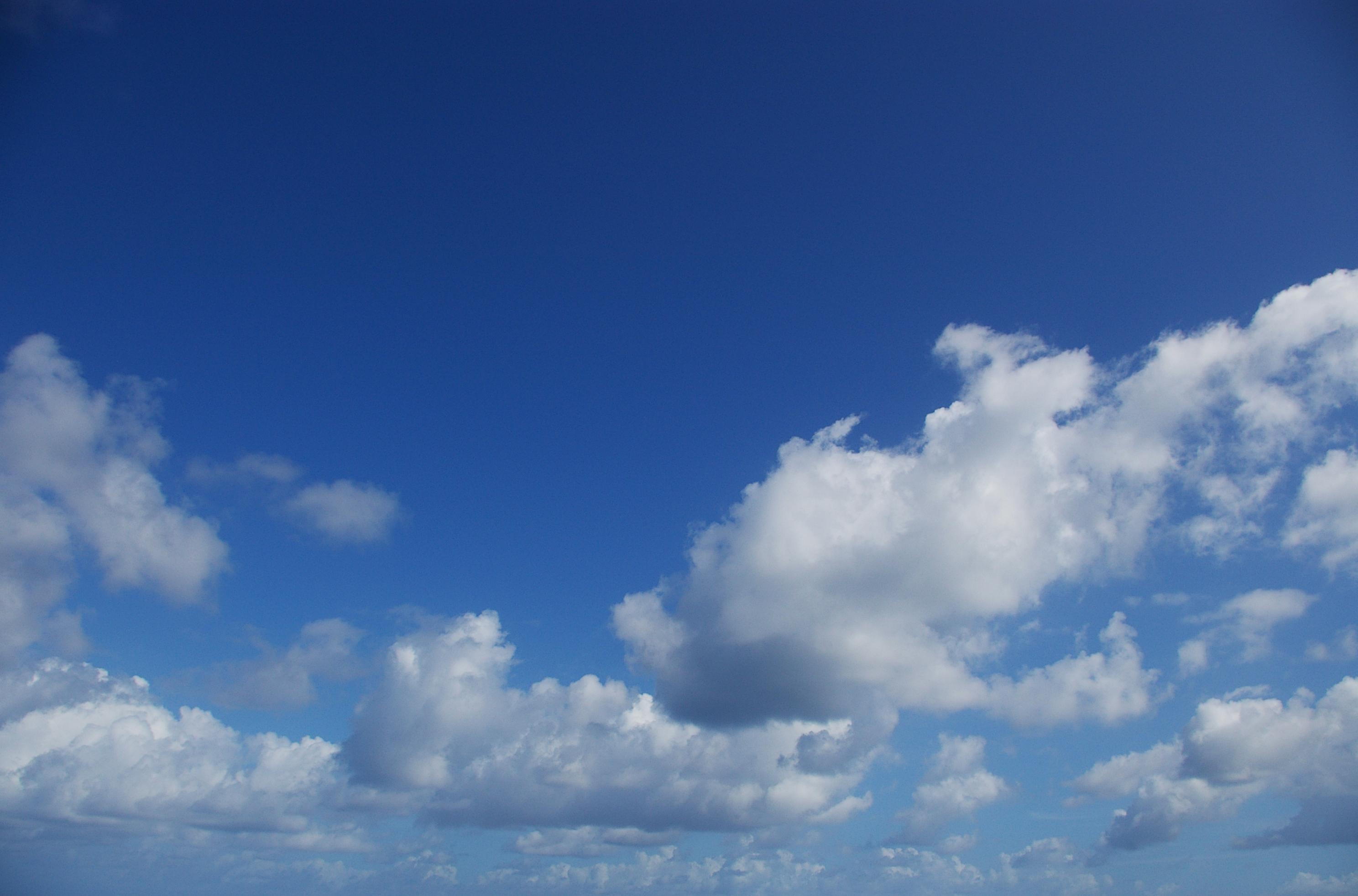 A Perfect sky, Beautiful, Blue, Clouds, Nature, HQ Photo