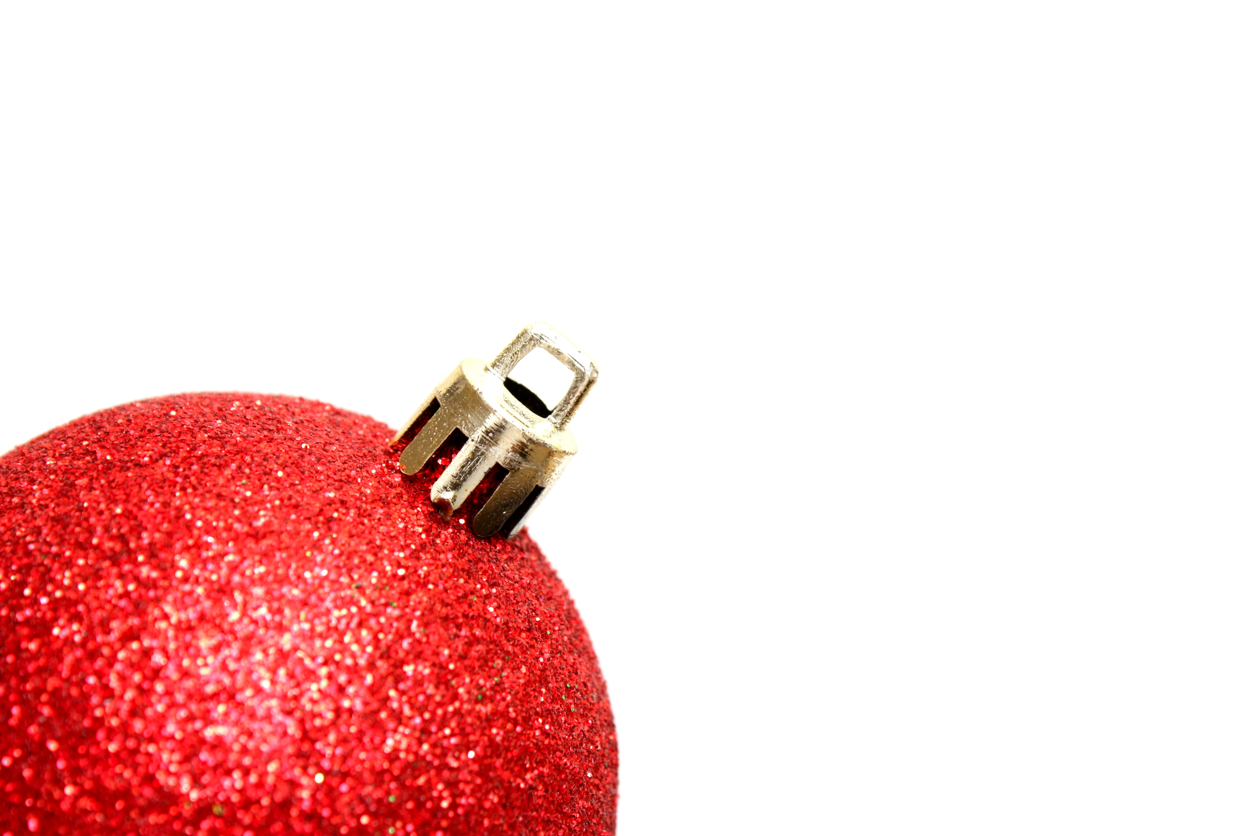 A red christmas ornament photo