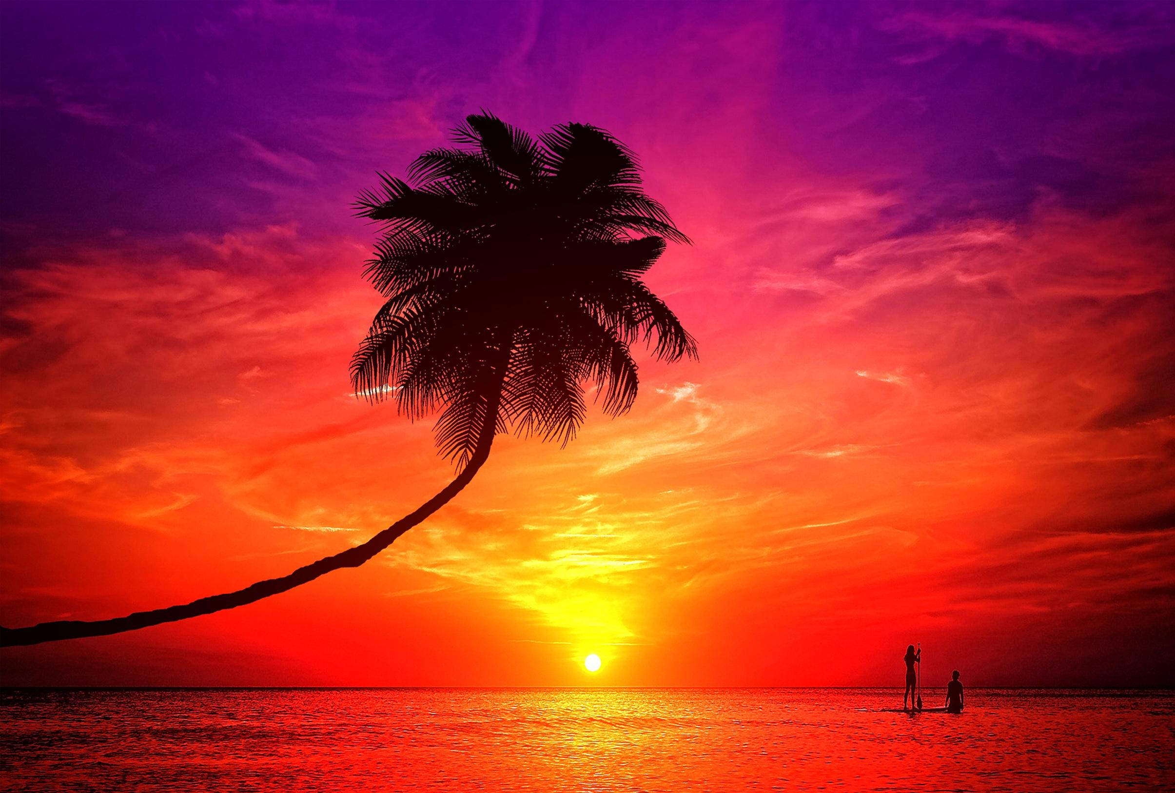 A romantic couple enjoying the sunset photo