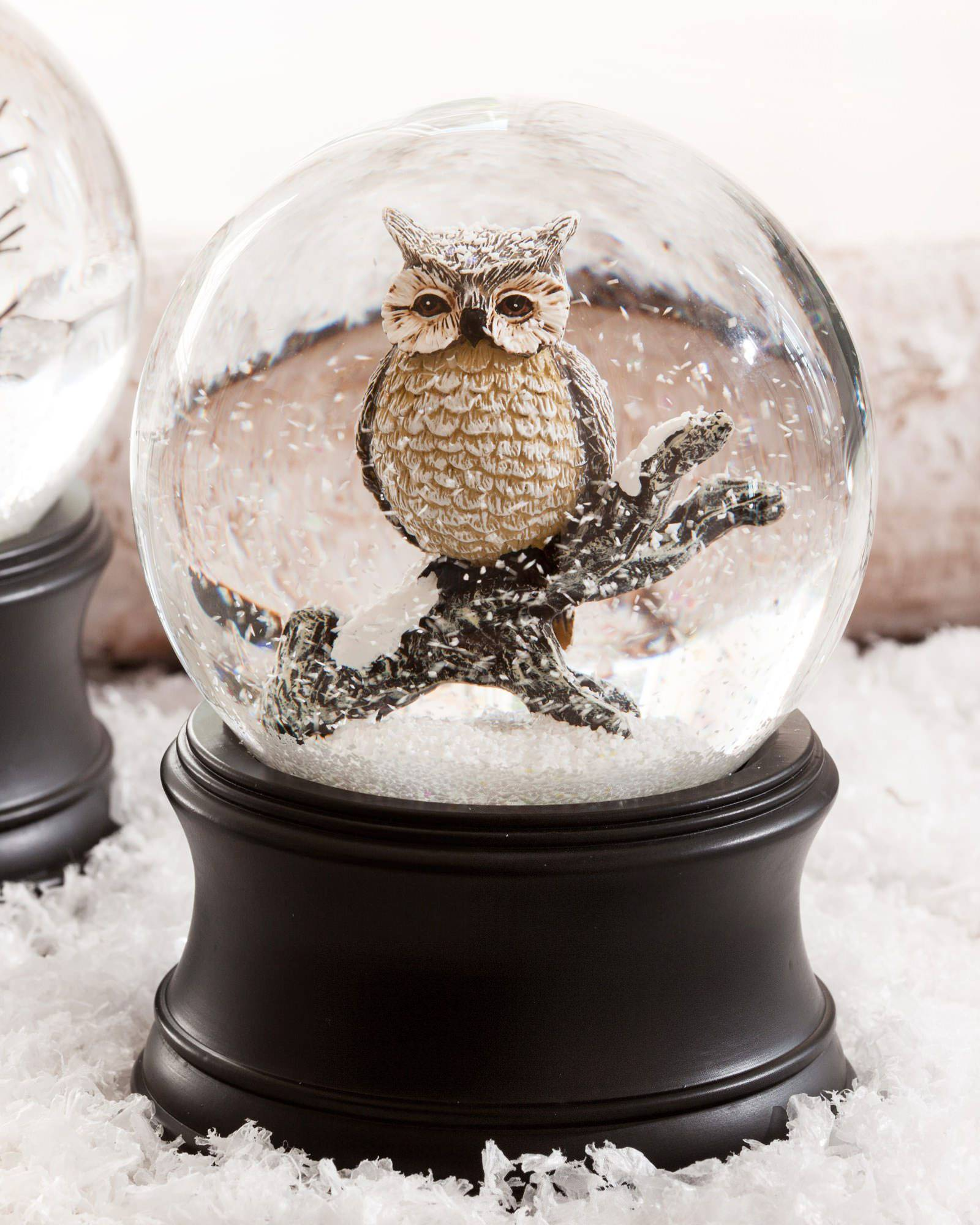 Musical Owl Snow Globe | Balsam Hill