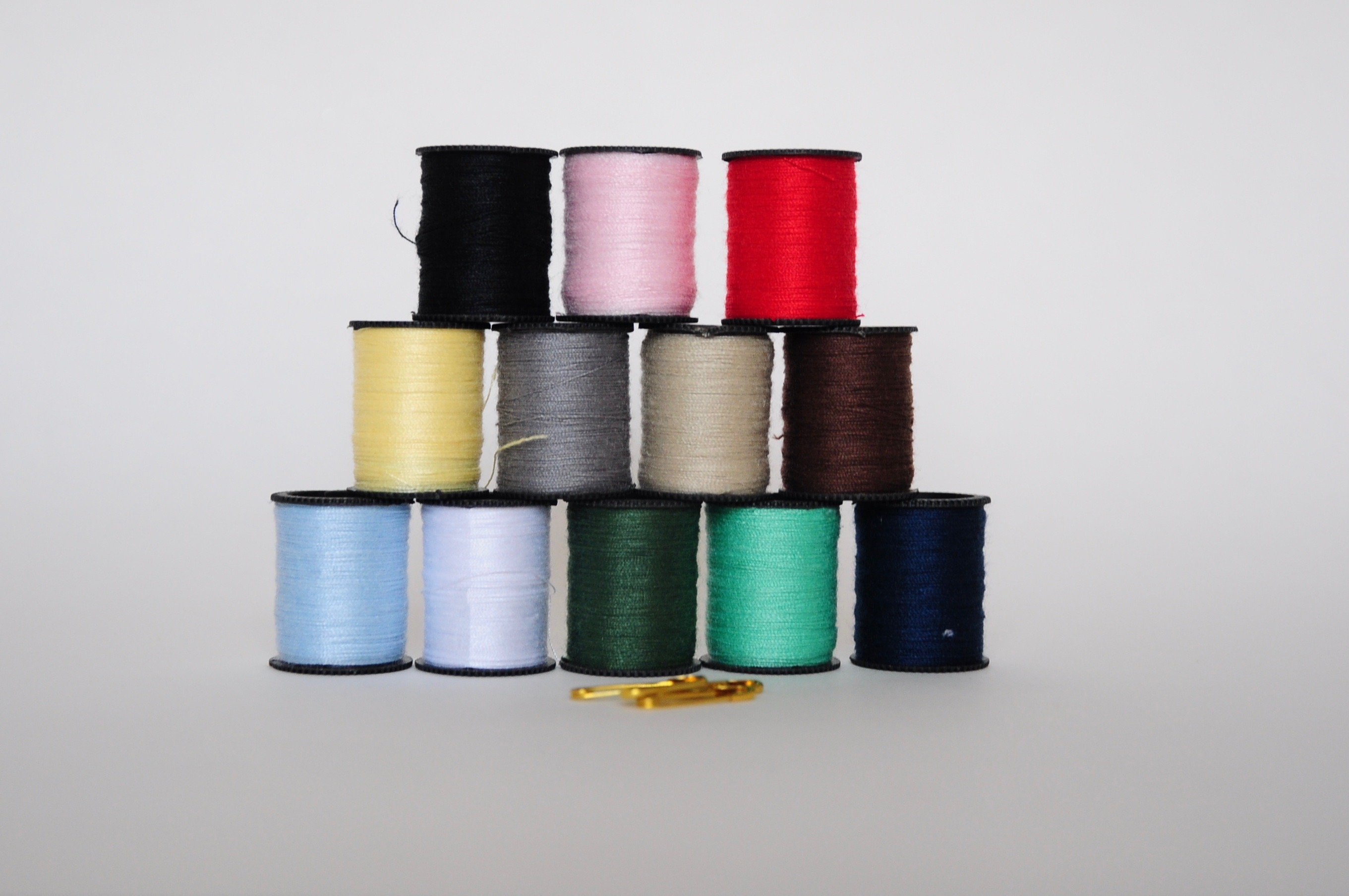 A stack of threads photo
