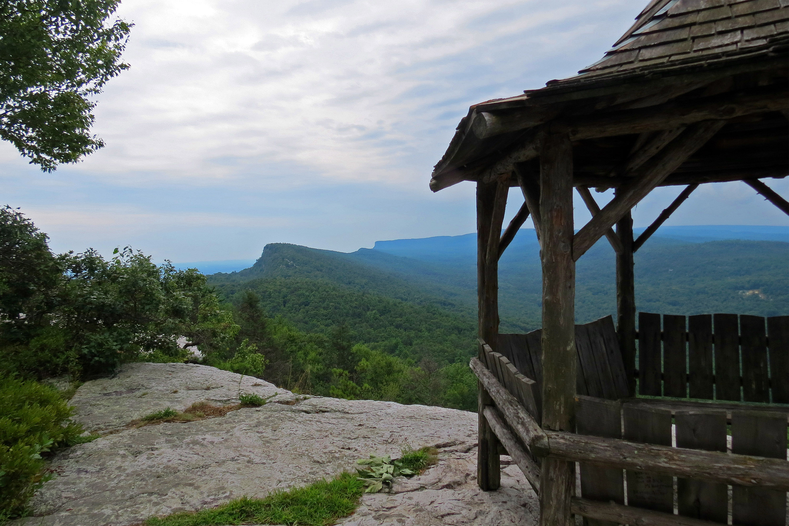 A trailside gazebo at mohonk mountain house resort photo