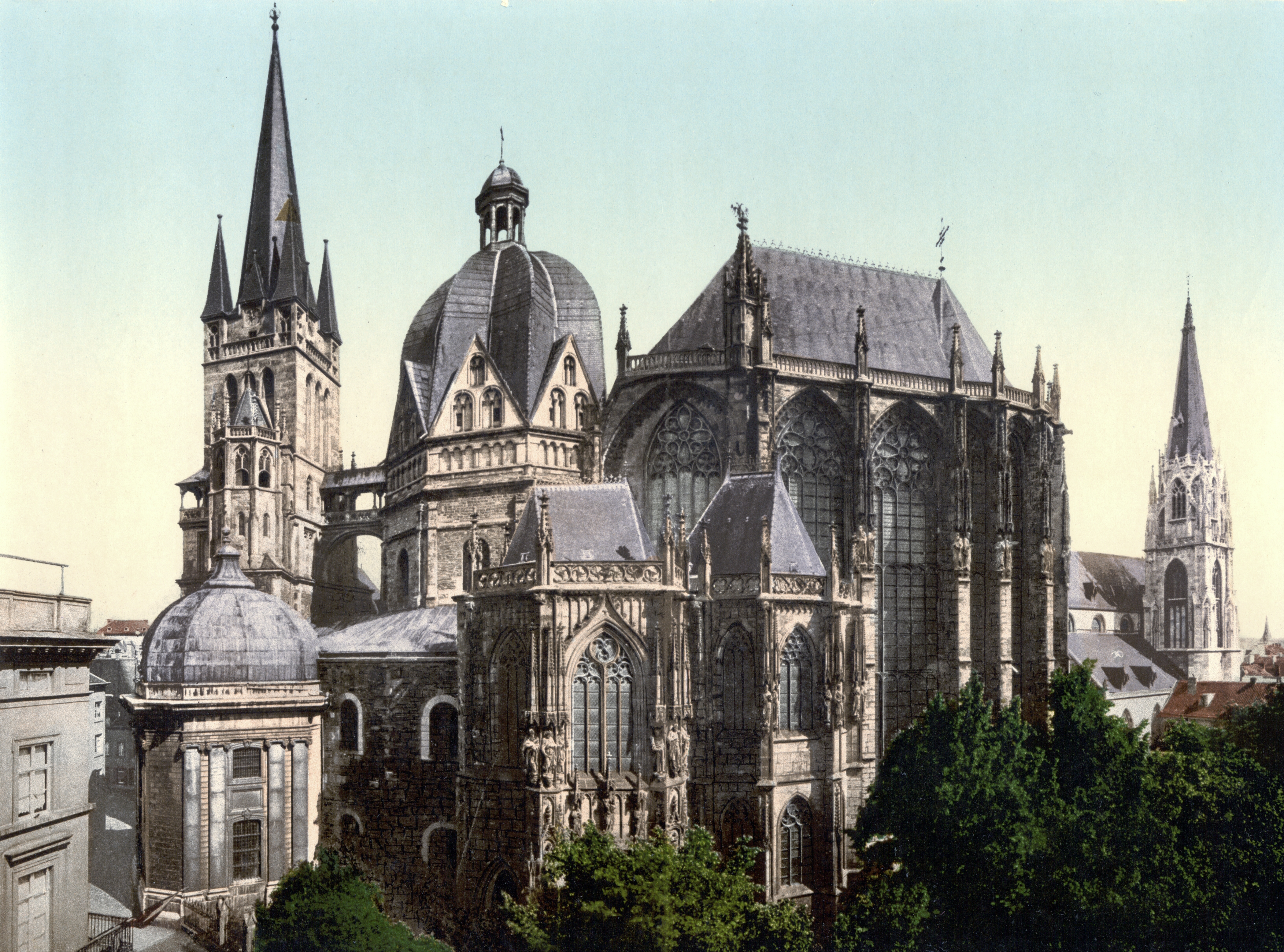 File:Aachen Dom um 1900.jpg - Wikimedia Commons