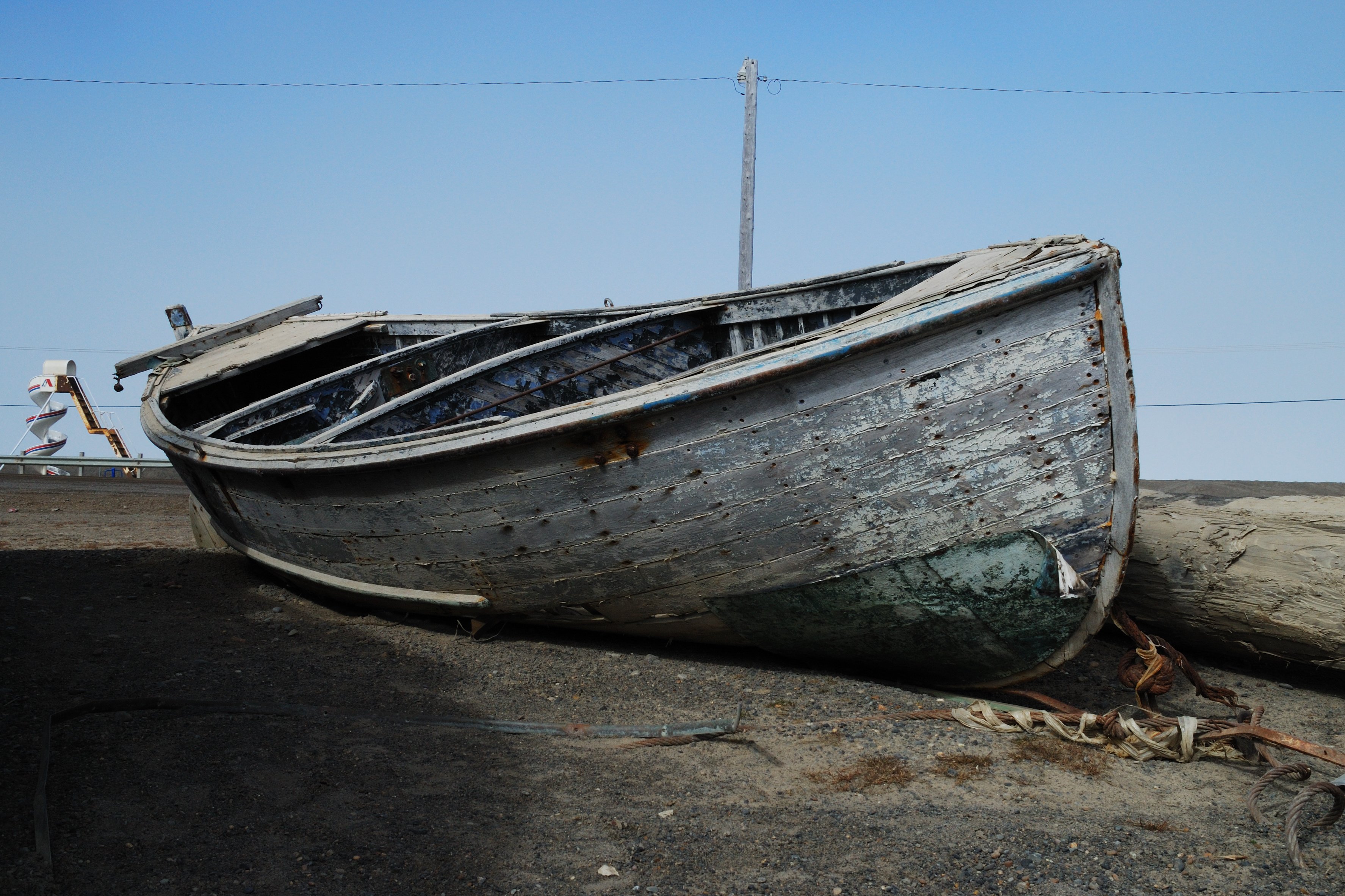 Abandoned boat photo