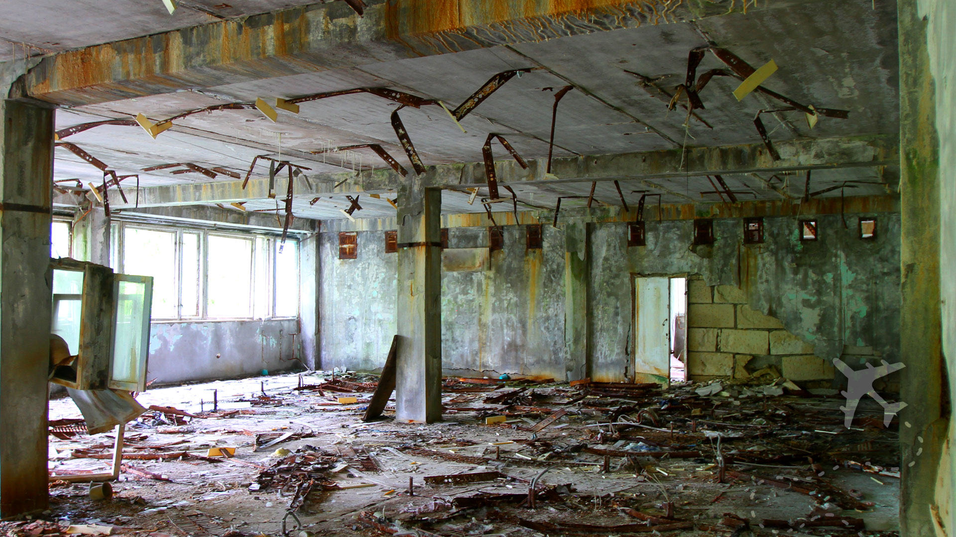 Inside an abandoned building in Pripyat - DESTINATIONS UNKNOWN