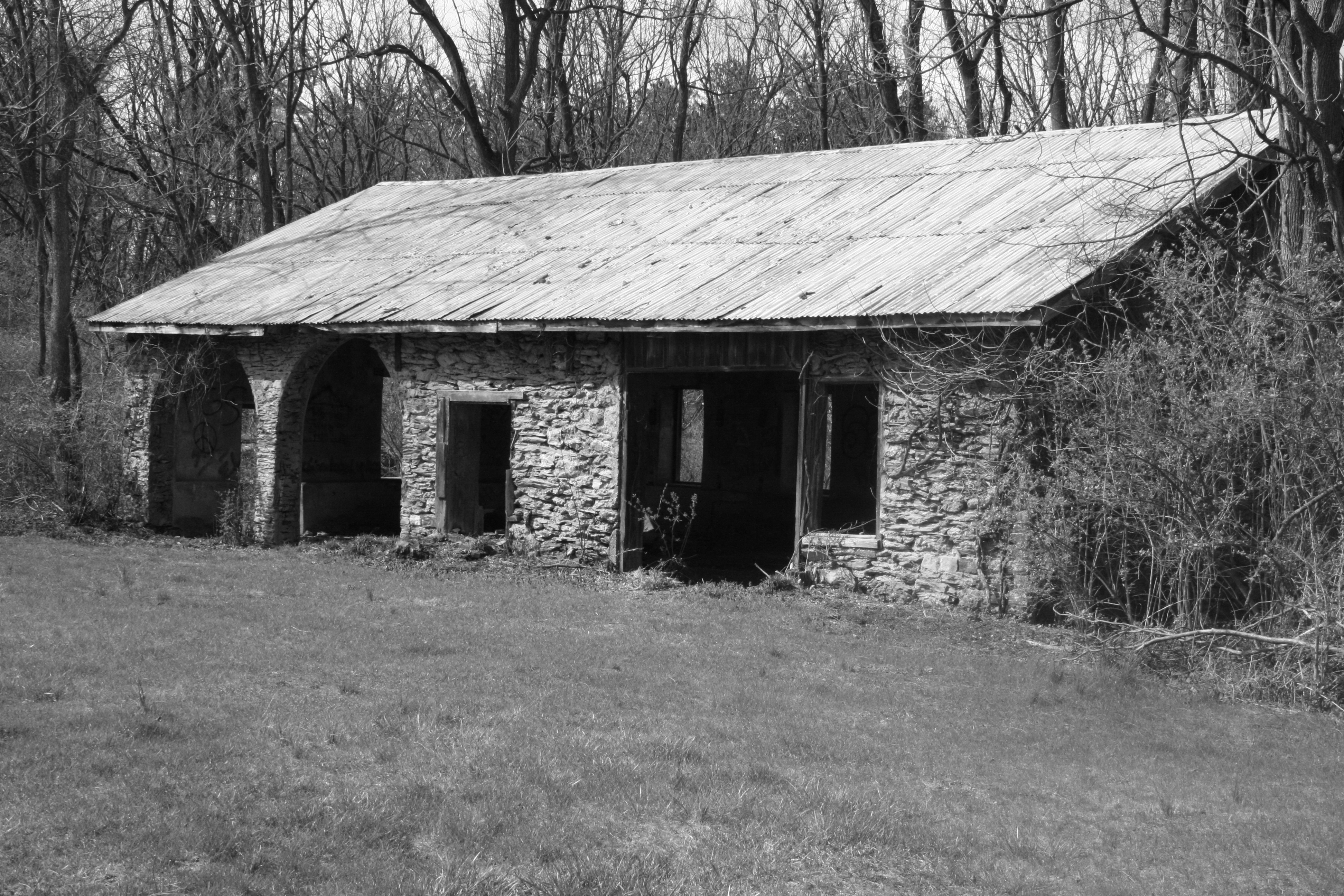 Abandoned Building, Abandoned, Black&white, Building, House, HQ Photo