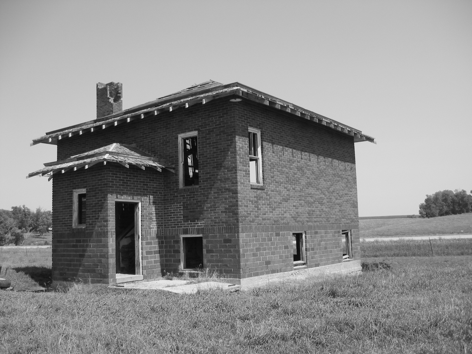Abandoned house, Abandoned, Blackandwhite, Building, Construction, HQ Photo